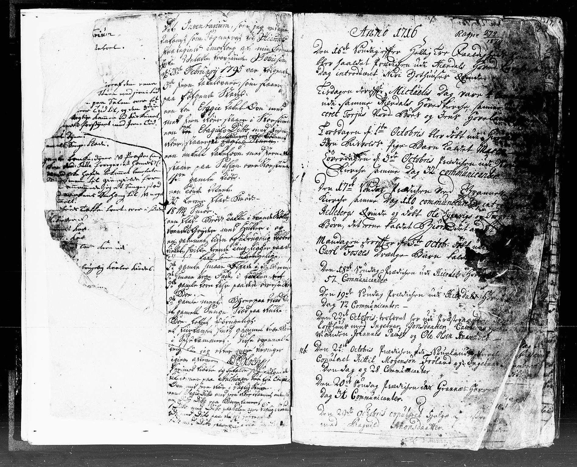 SAKO, Hjartdal kirkebøker, F/Fa/L0002: Ministerialbok nr. I 2, 1716-1754, s. 0-1