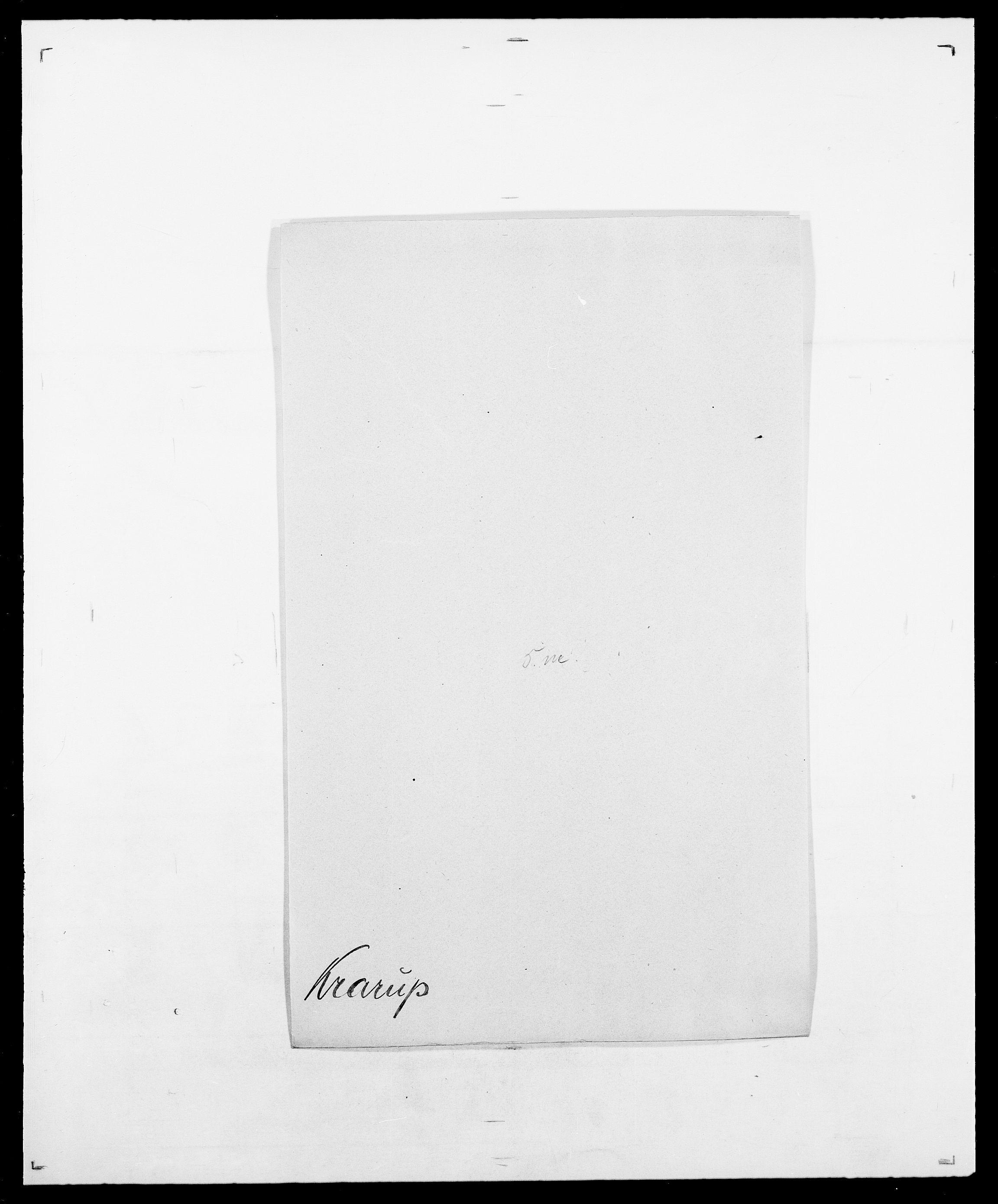 SAO, Delgobe, Charles Antoine - samling, D/Da/L0021: Klagenberg - Kristoft, s. 722