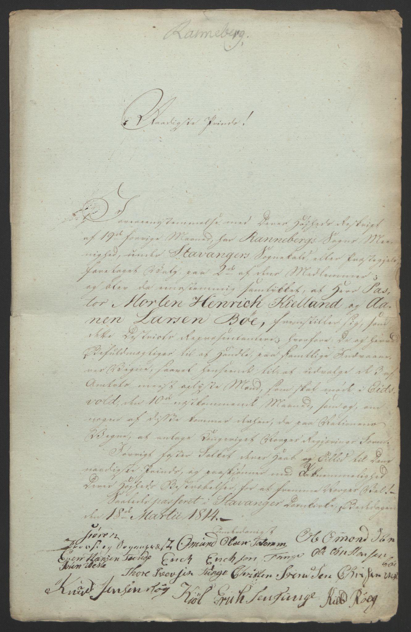 RA, Statsrådssekretariatet, D/Db/L0008: Fullmakter for Eidsvollsrepresentantene i 1814. , 1814, s. 201