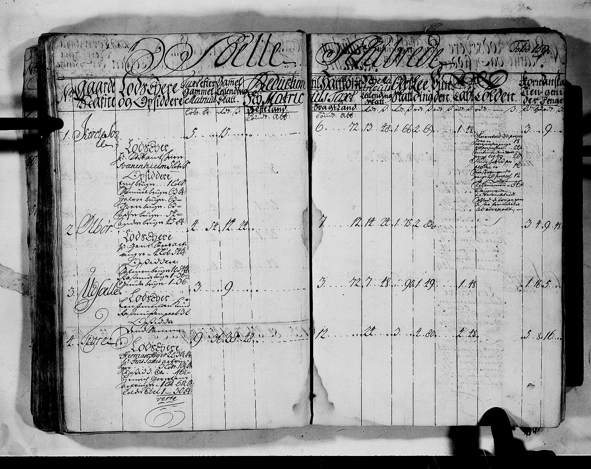 RA, Rentekammeret inntil 1814, Realistisk ordnet avdeling, N/Nb/Nbf/L0132: Jæren og Dalane matrikkelprotokoll, 1723, s. 158b-159a