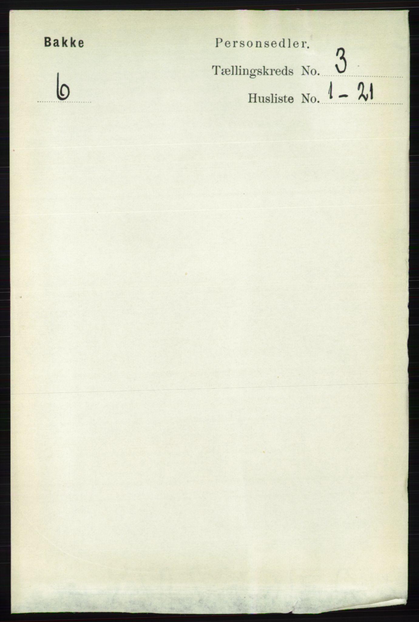 RA, Folketelling 1891 for 1045 Bakke herred, 1891, s. 411