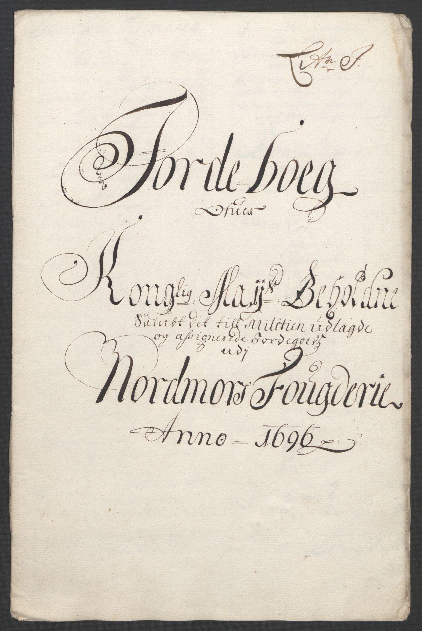 RA, Rentekammeret inntil 1814, Reviderte regnskaper, Fogderegnskap, R56/L3736: Fogderegnskap Nordmøre, 1694-1696, s. 428
