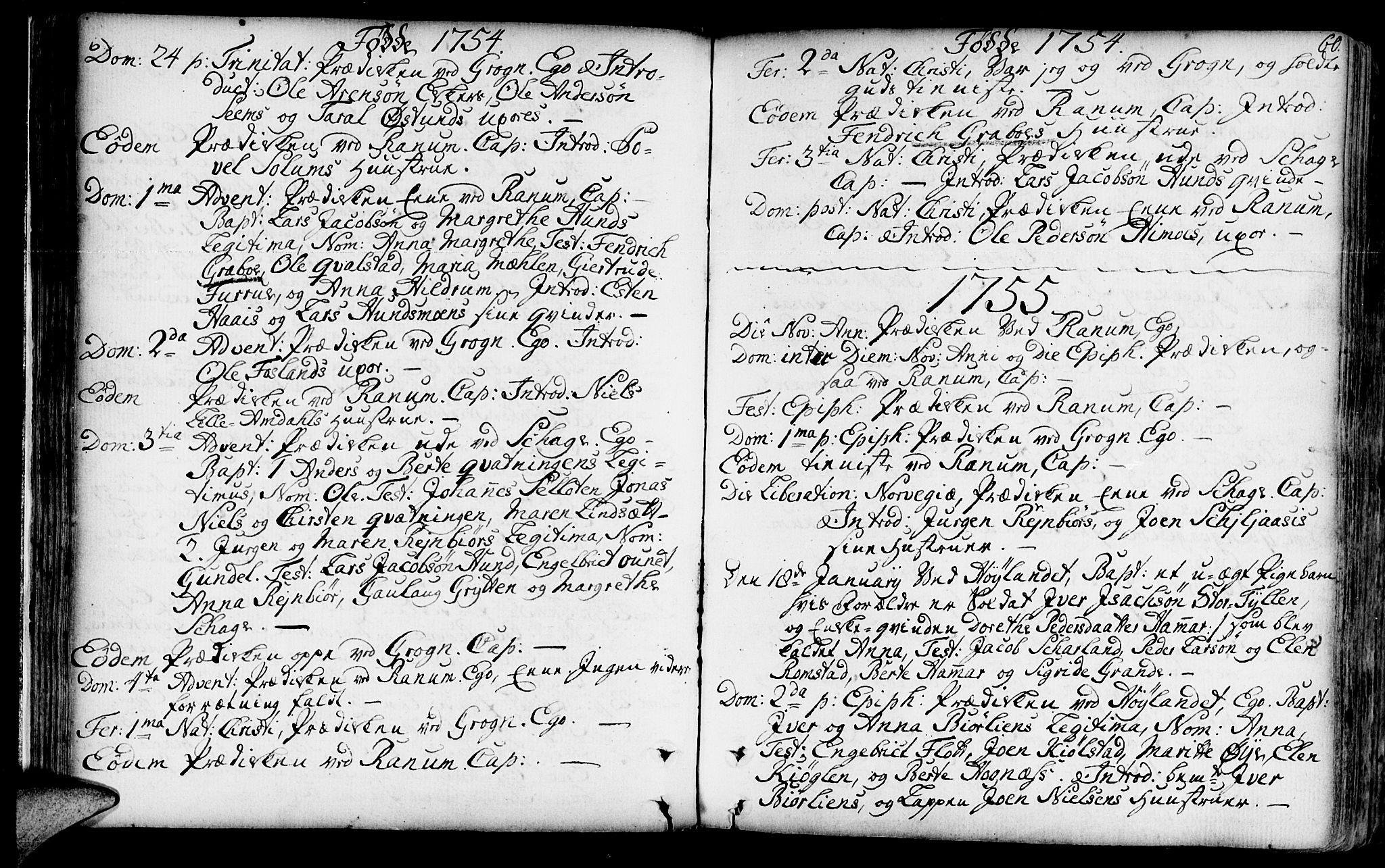 SAT, Ministerialprotokoller, klokkerbøker og fødselsregistre - Nord-Trøndelag, 764/L0542: Ministerialbok nr. 764A02, 1748-1779, s. 60