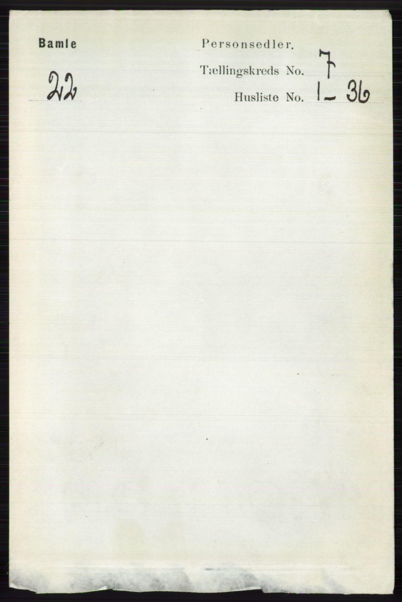 RA, Folketelling 1891 for 0814 Bamble herred, 1891, s. 2983