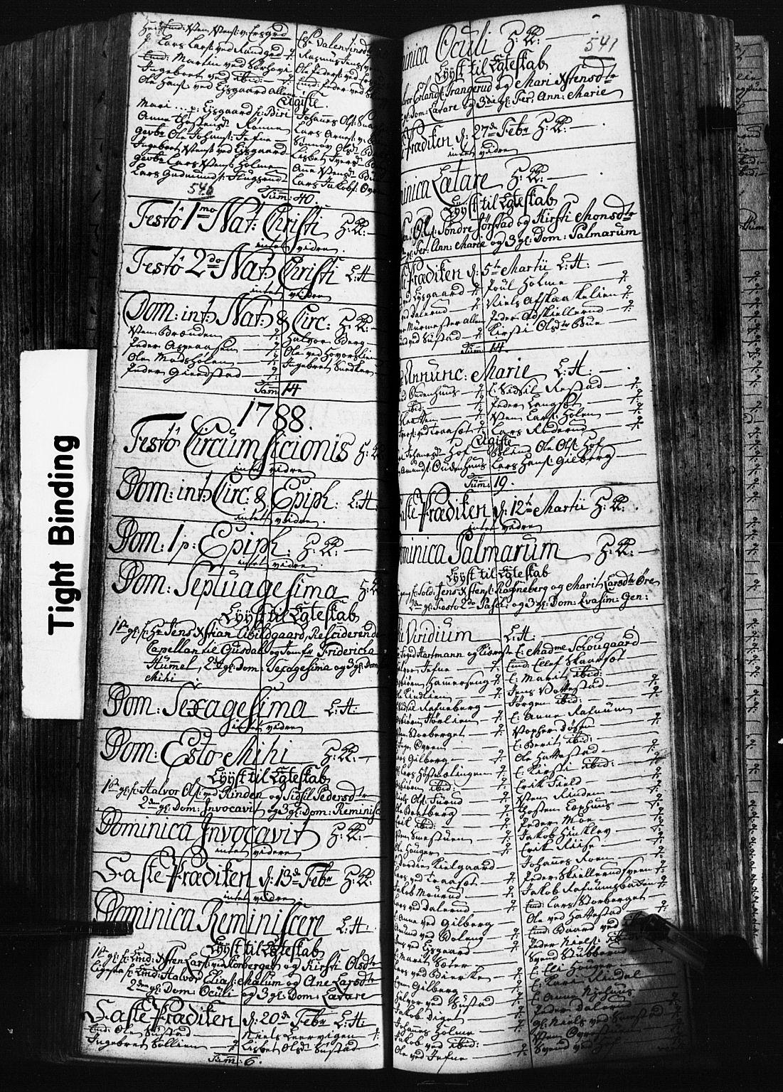 SAH, Fåberg prestekontor, Klokkerbok nr. 3, 1768-1796, s. 540-541