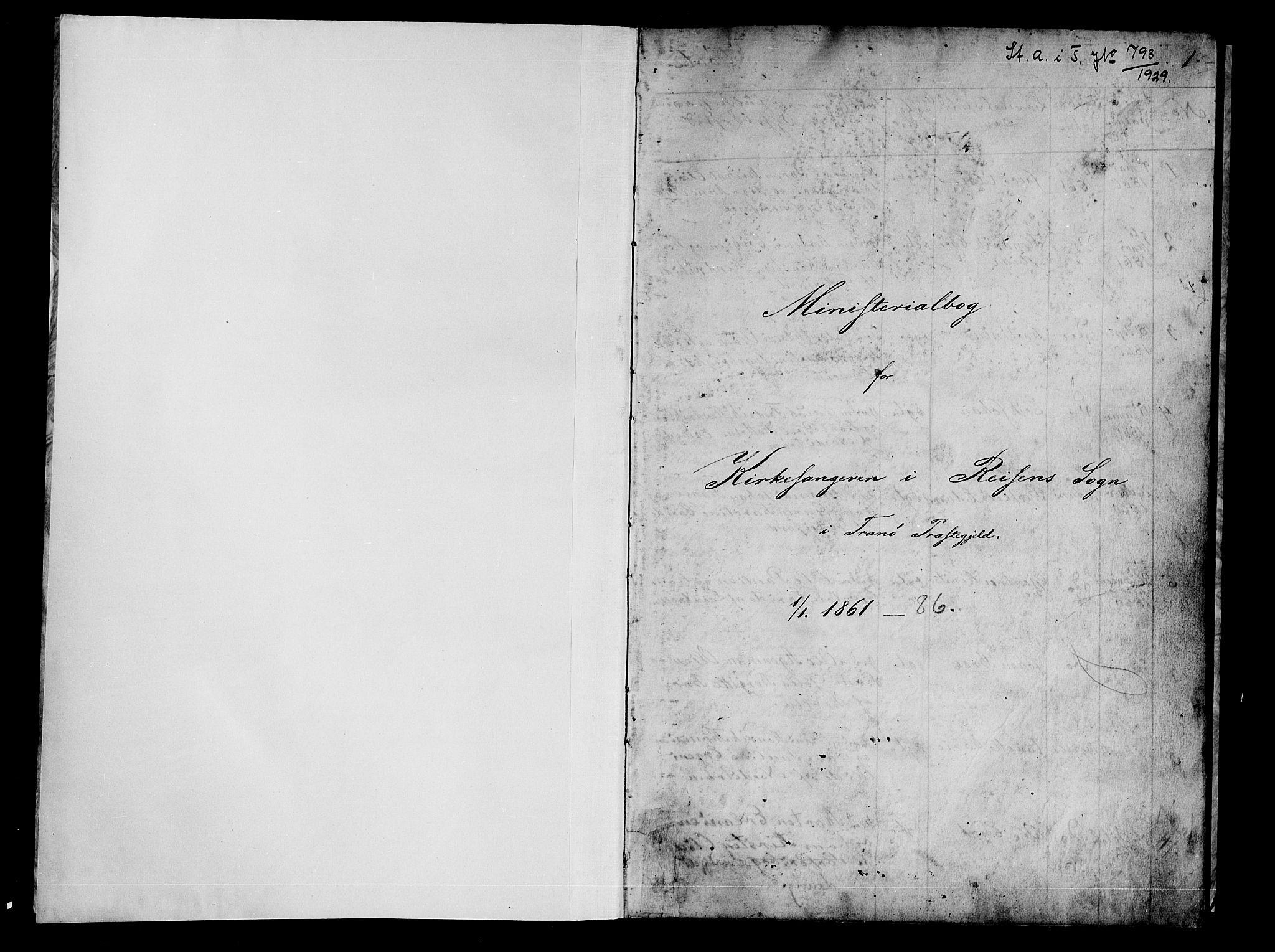 SATØ, Tranøy sokneprestkontor, I/Ia/Iab/L0021klokker: Klokkerbok nr. 21, 1861-1886, s. 1