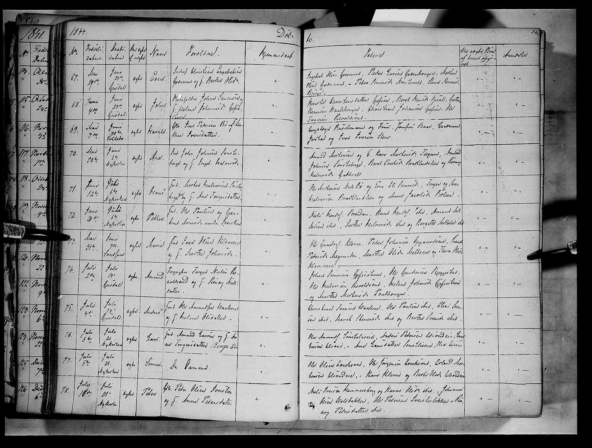 SAH, Gausdal prestekontor, Ministerialbok nr. 7, 1840-1850, s. 56