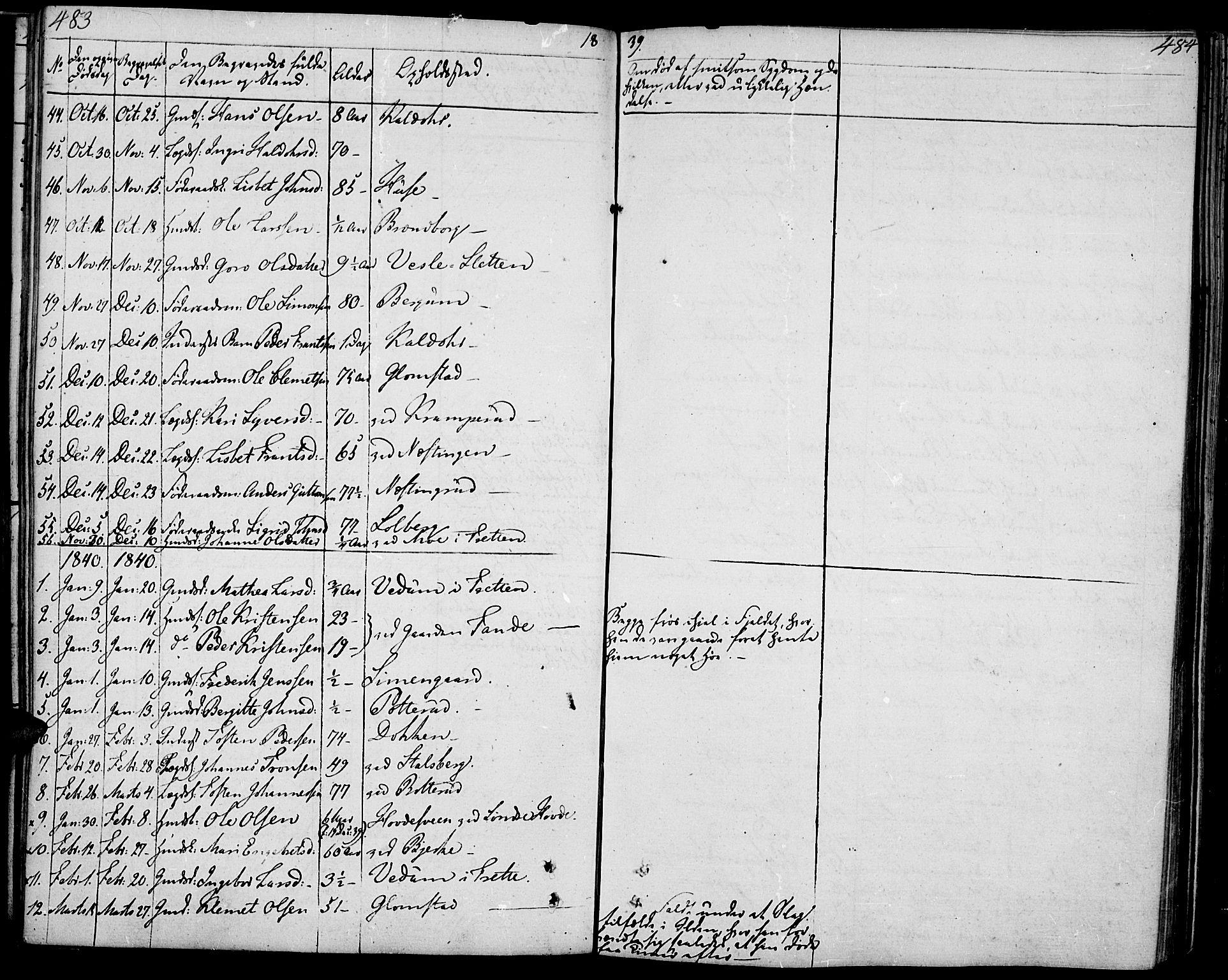 SAH, Øyer prestekontor, Ministerialbok nr. 4, 1824-1841, s. 483-484