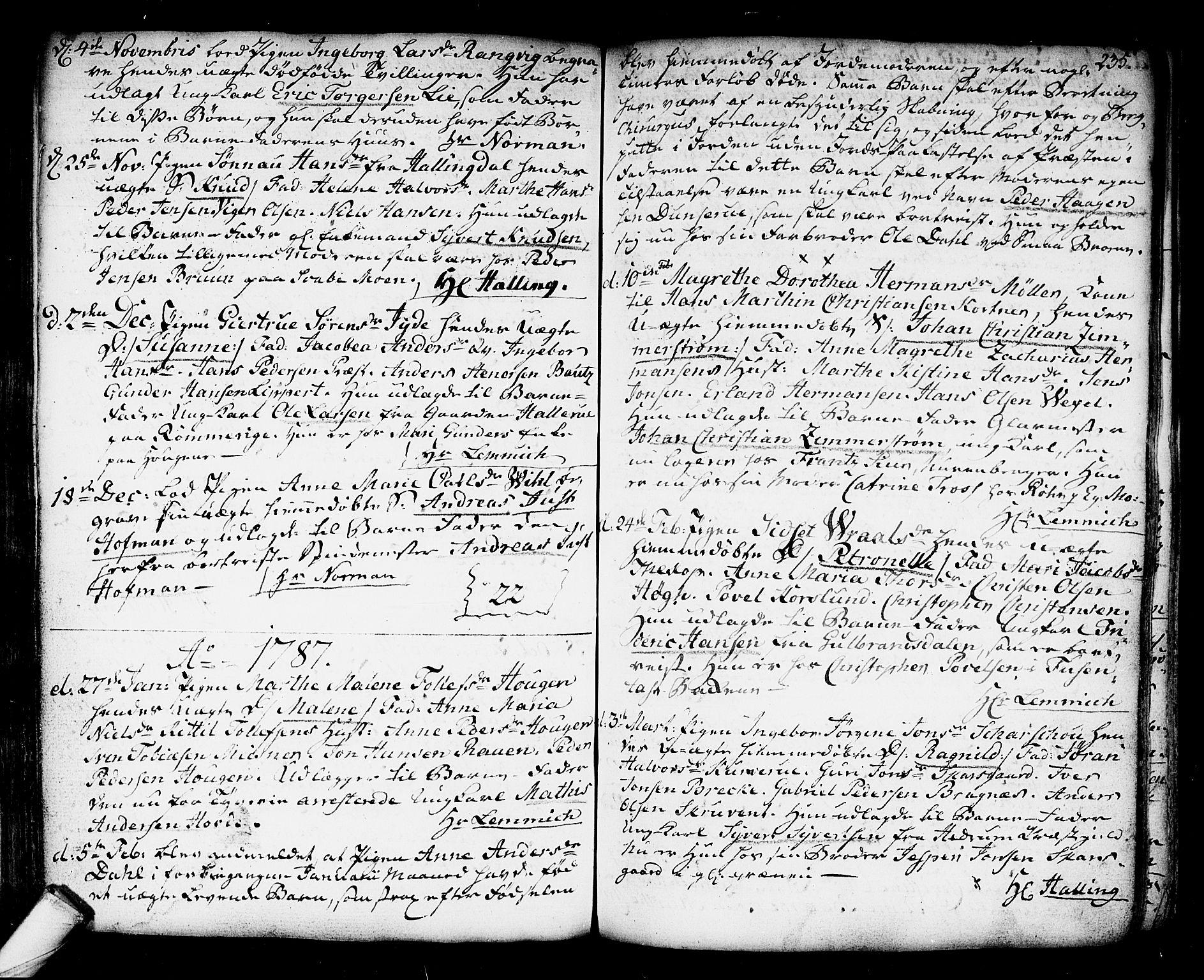 SAKO, Kongsberg kirkebøker, F/Fa/L0006: Ministerialbok nr. I 6, 1783-1797, s. 235