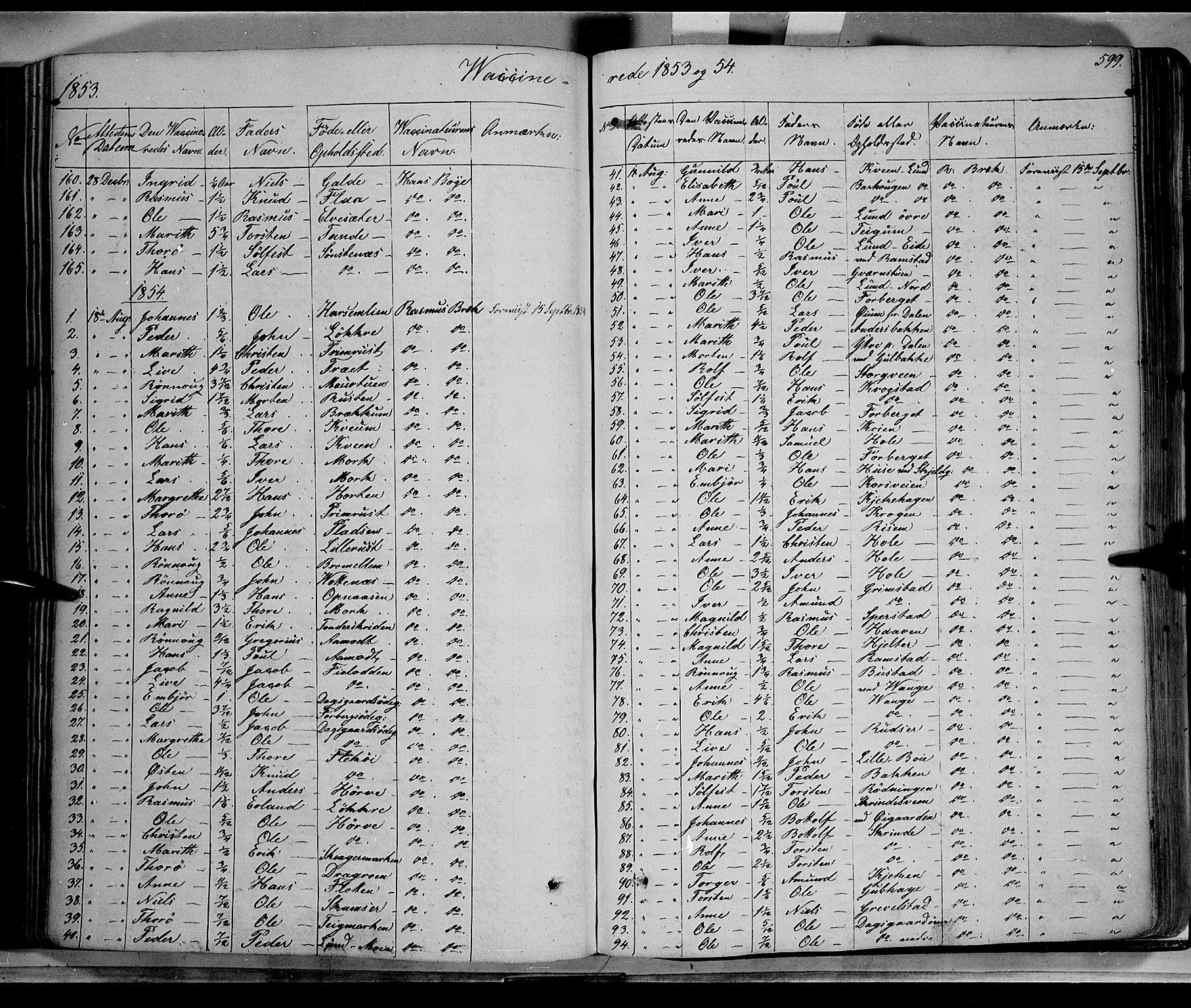 SAH, Lom prestekontor, K/L0006: Ministerialbok nr. 6B, 1837-1863, s. 599