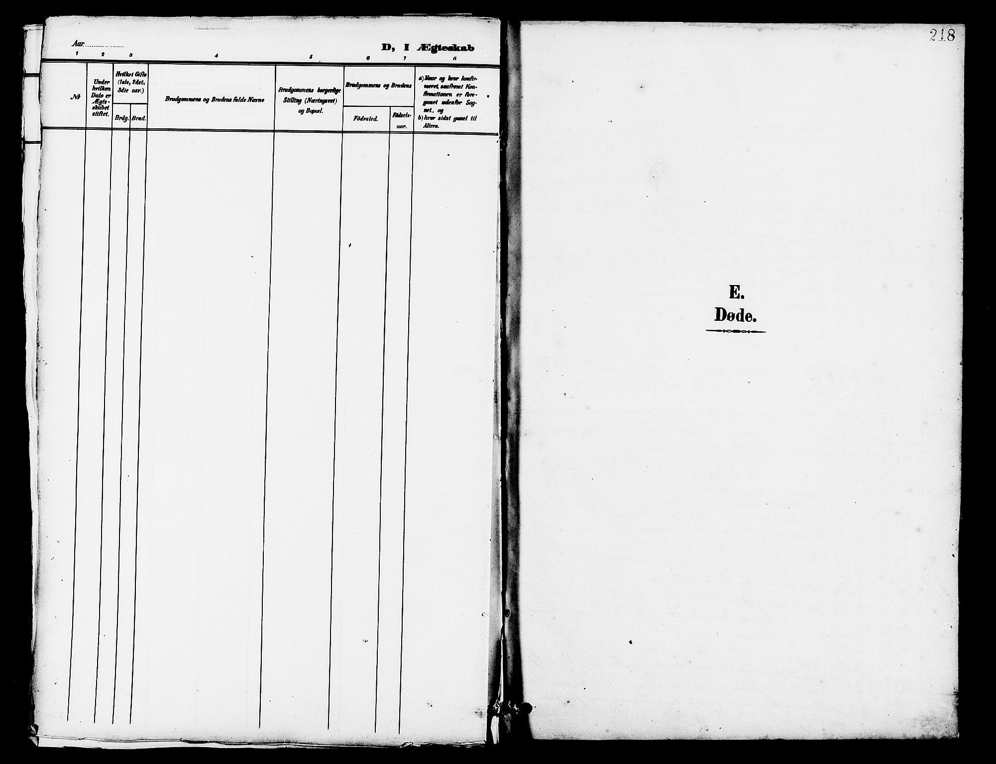 SAST, Lye sokneprestkontor, 30BB/L0007: Klokkerbok nr. B 8, 1889-1909, s. 218