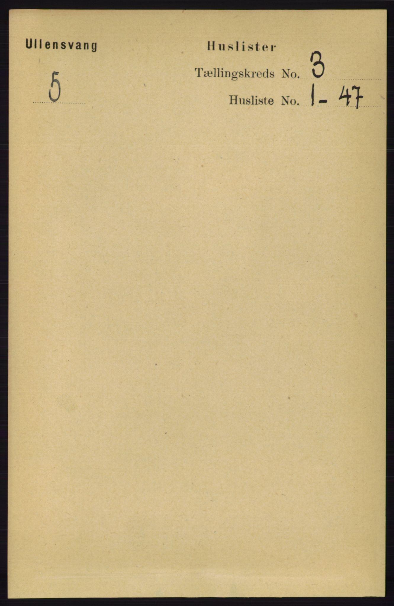 RA, Folketelling 1891 for 1230 Ullensvang herred, 1891, s. 536