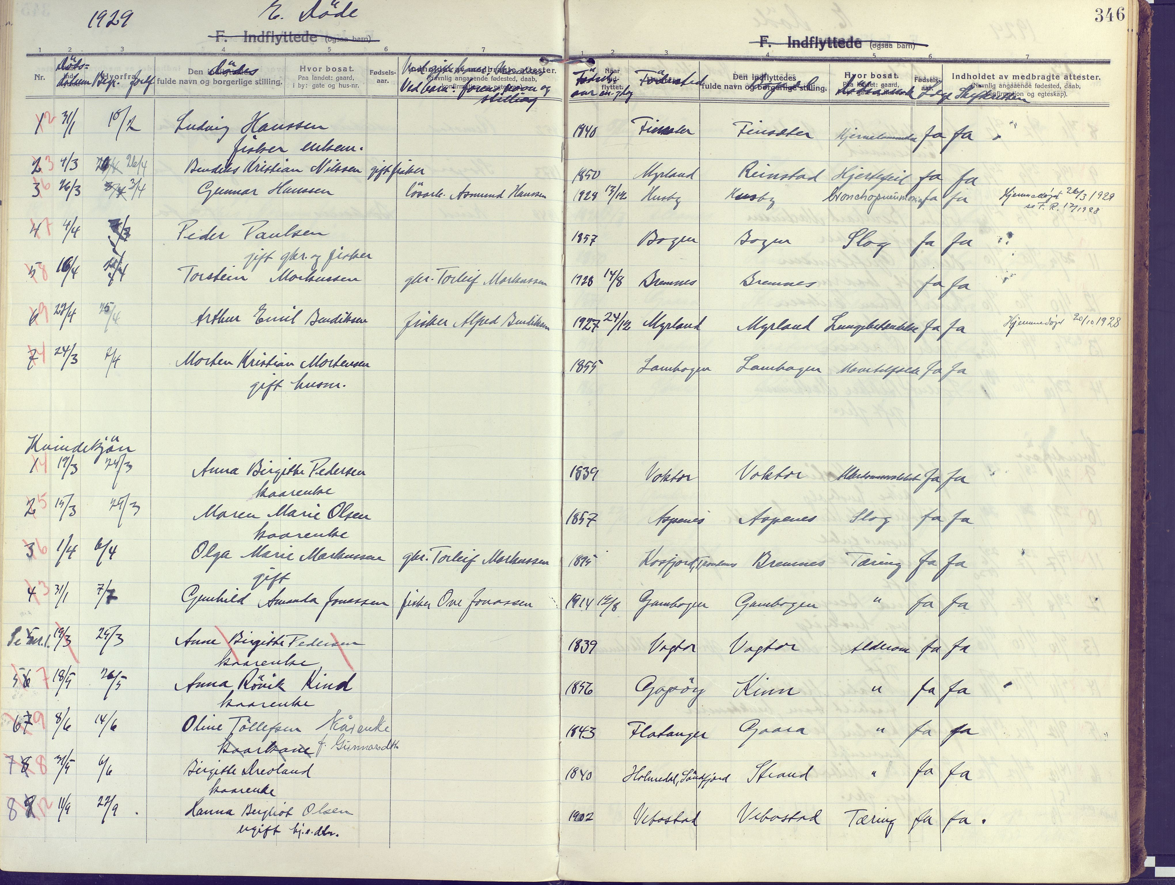 SATØ, Kvæfjord sokneprestkontor, G/Ga/Gaa/L0007kirke: Ministerialbok nr. 7, 1915-1931, s. 346