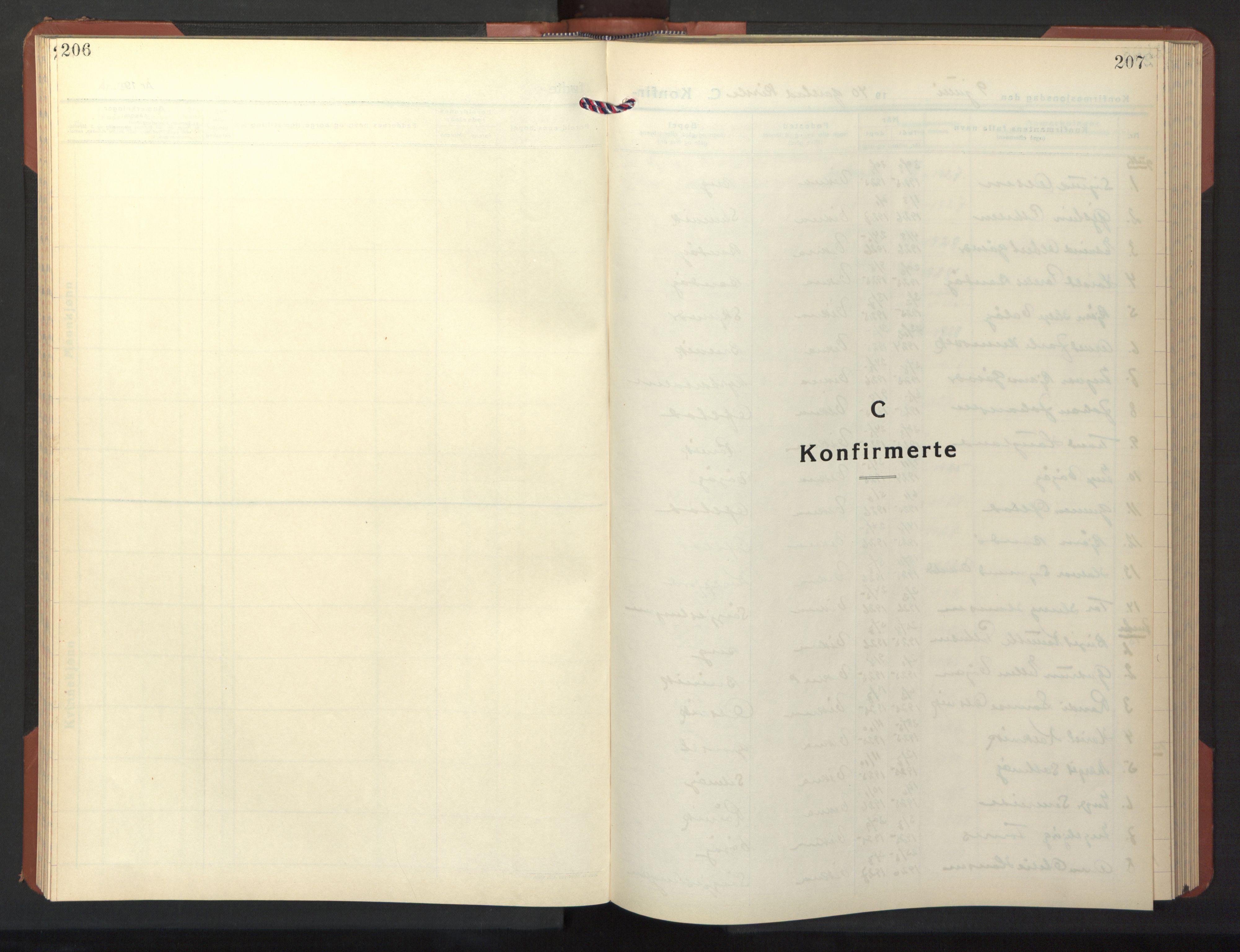 SAT, Ministerialprotokoller, klokkerbøker og fødselsregistre - Nord-Trøndelag, 786/L0689: Klokkerbok nr. 786C01, 1940-1948, s. 206-207