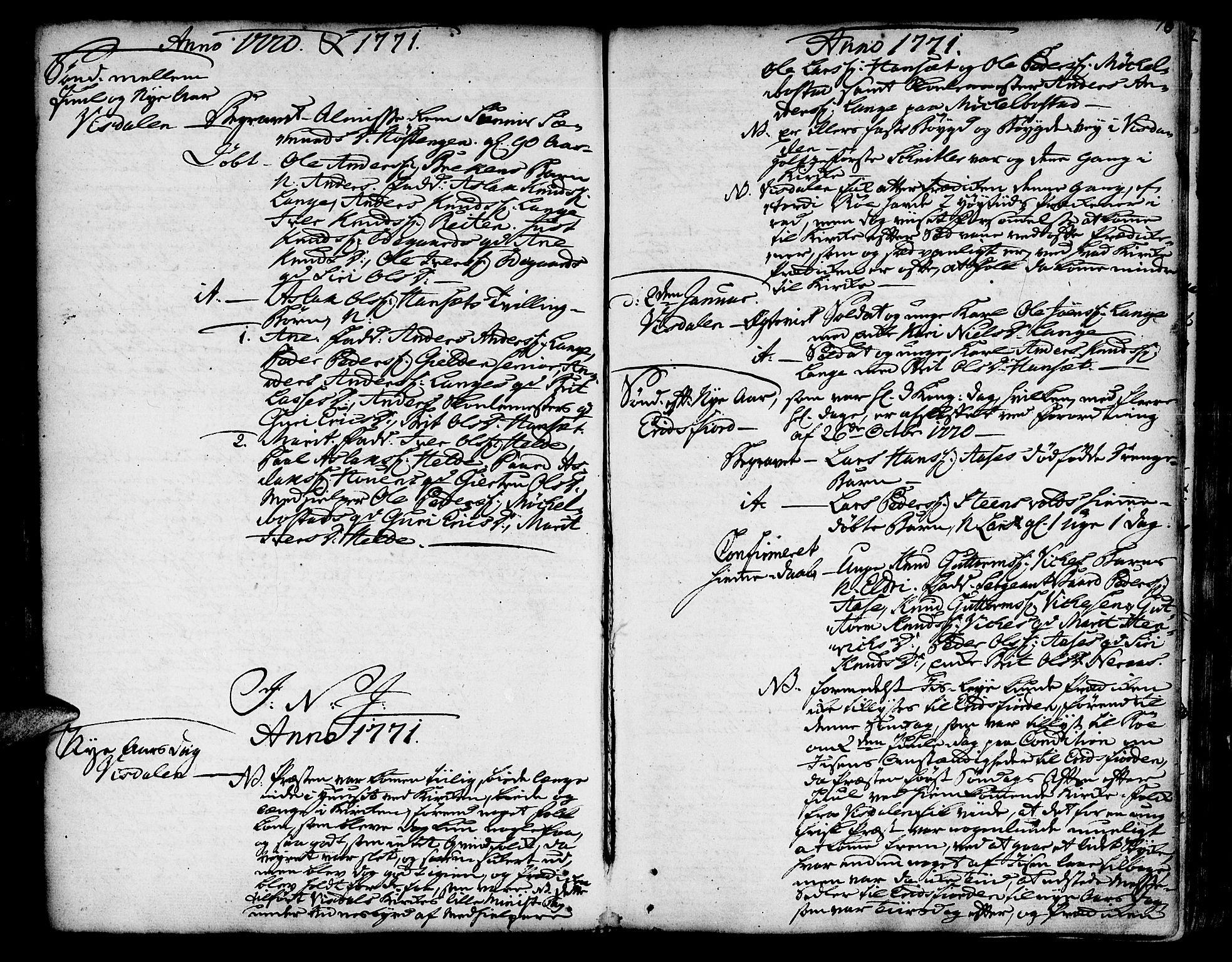 SAT, Ministerialprotokoller, klokkerbøker og fødselsregistre - Møre og Romsdal, 551/L0621: Ministerialbok nr. 551A01, 1757-1803, s. 76