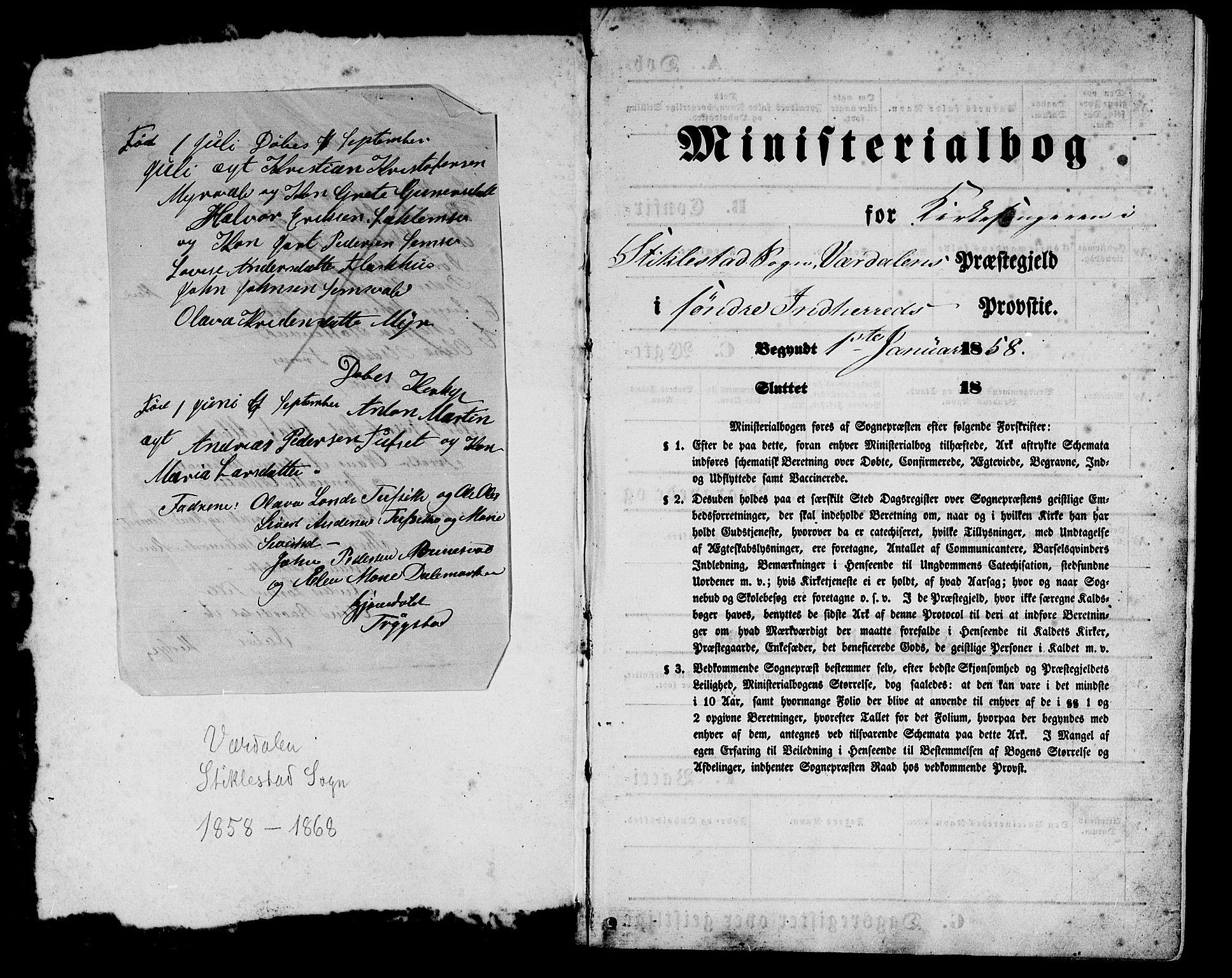 SAT, Ministerialprotokoller, klokkerbøker og fødselsregistre - Nord-Trøndelag, 723/L0254: Klokkerbok nr. 723C02, 1858-1868