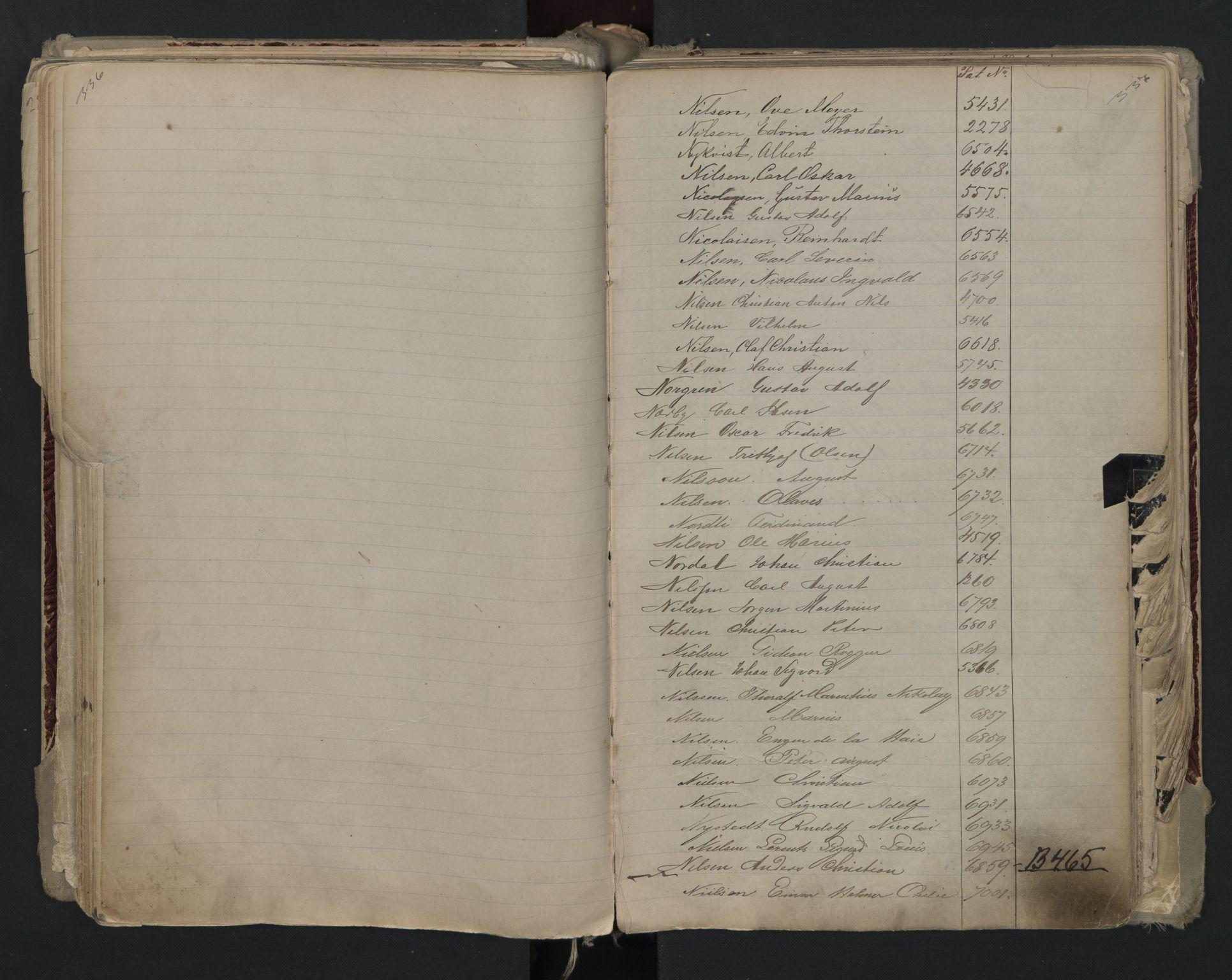SAO, Oslo sjømannskontor, F/Fa/L0002: Register for Kristiania krets, 1866-1930, s. 336-337