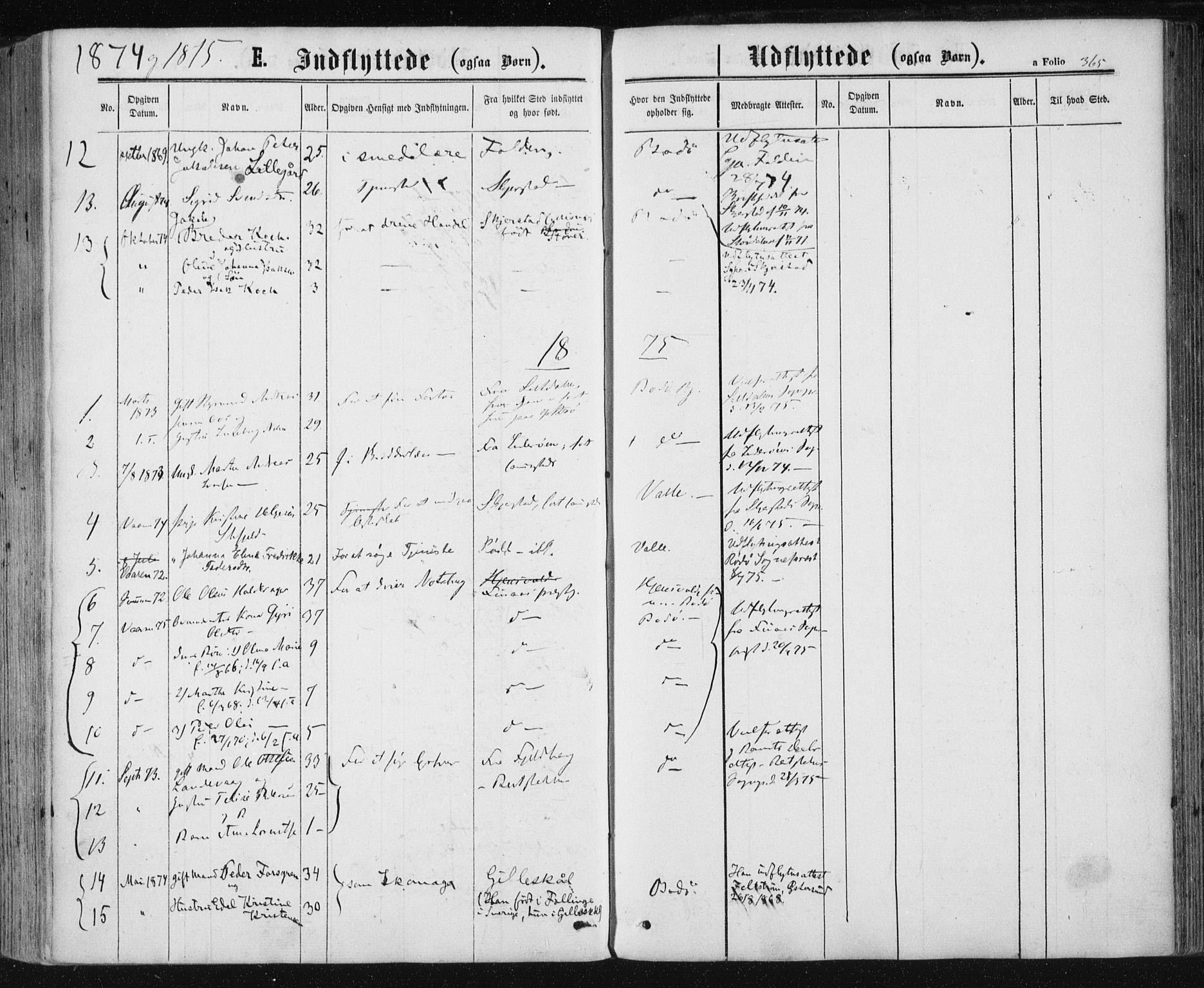 SAT, Ministerialprotokoller, klokkerbøker og fødselsregistre - Nordland, 801/L0008: Ministerialbok nr. 801A08, 1864-1875, s. 365
