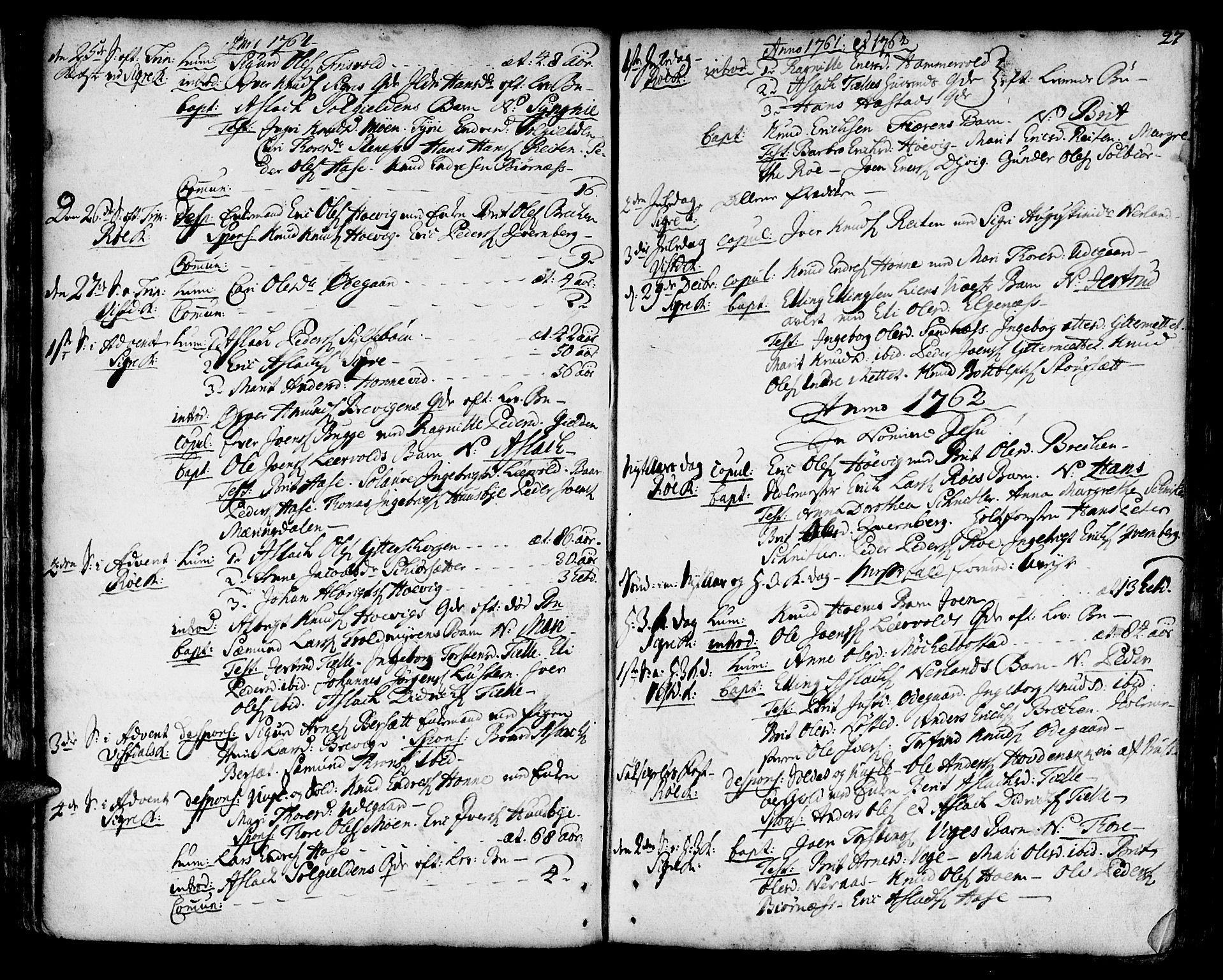 SAT, Ministerialprotokoller, klokkerbøker og fødselsregistre - Møre og Romsdal, 551/L0621: Ministerialbok nr. 551A01, 1757-1803, s. 27