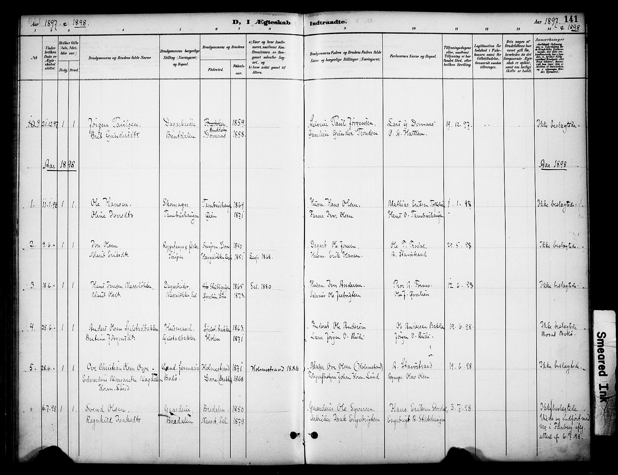 SAH, Dovre prestekontor, Ministerialbok nr. 3, 1891-1901, s. 141