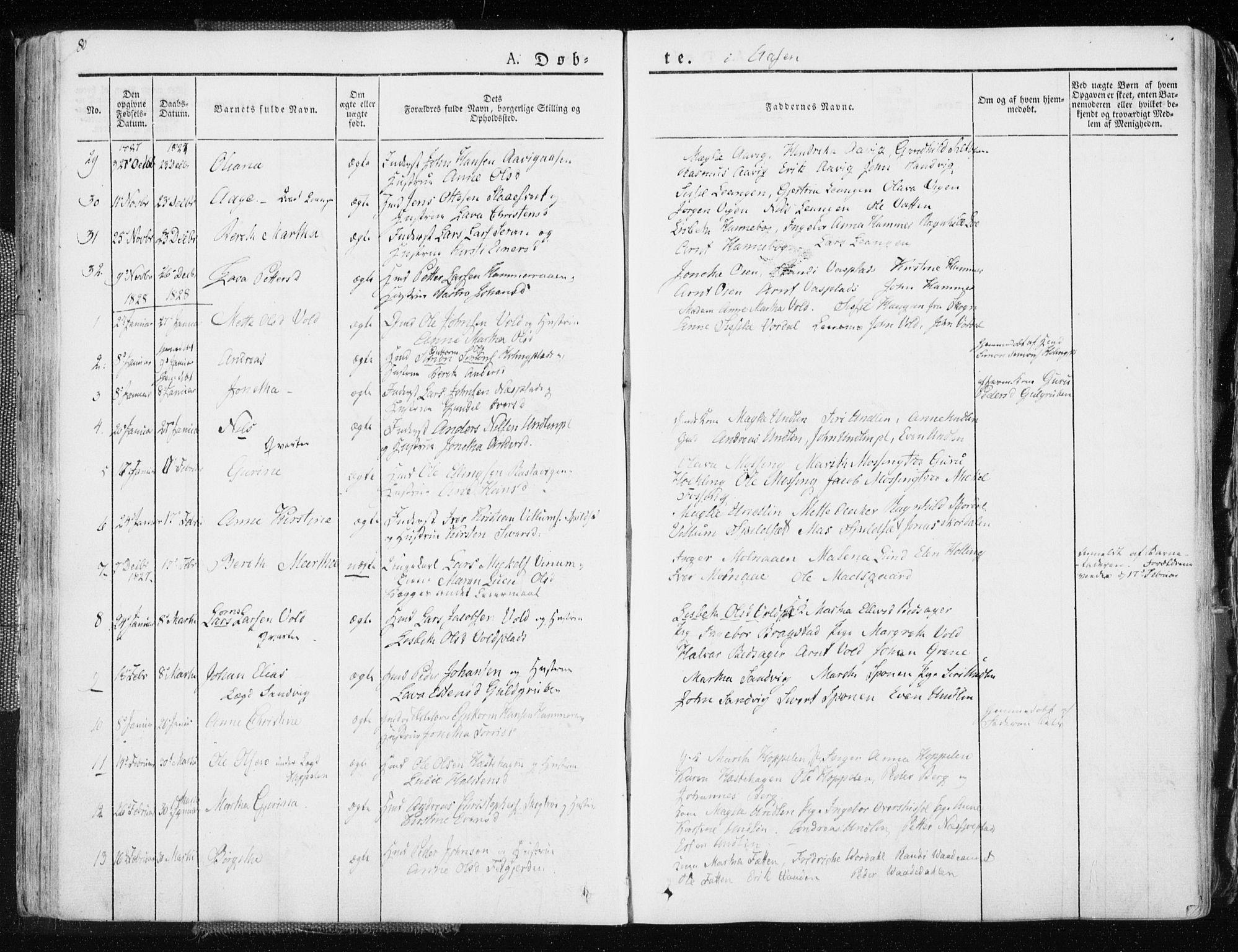 SAT, Ministerialprotokoller, klokkerbøker og fødselsregistre - Nord-Trøndelag, 713/L0114: Ministerialbok nr. 713A05, 1827-1839, s. 80
