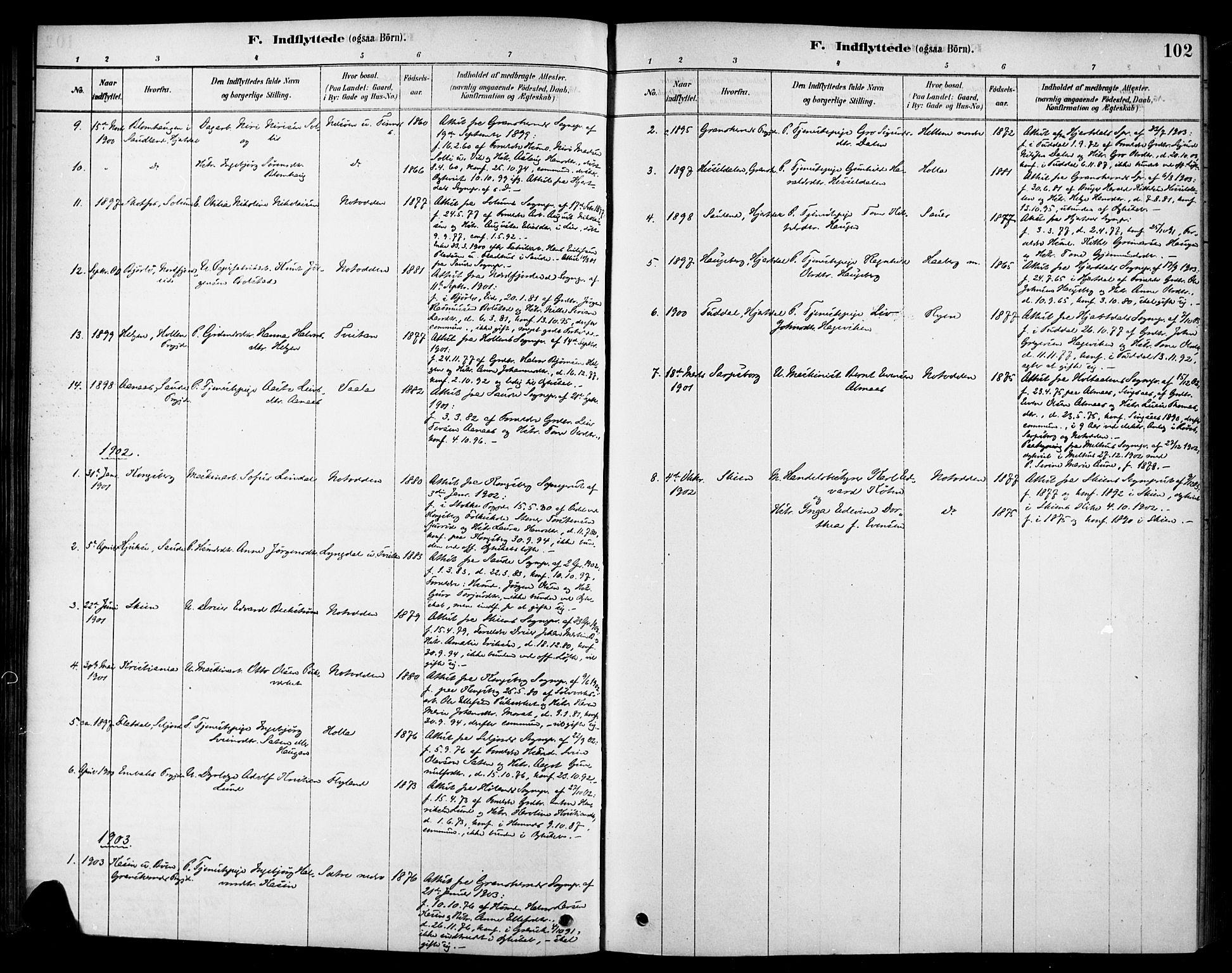 SAKO, Heddal kirkebøker, F/Fa/L0009: Ministerialbok nr. I 9, 1878-1903, s. 102