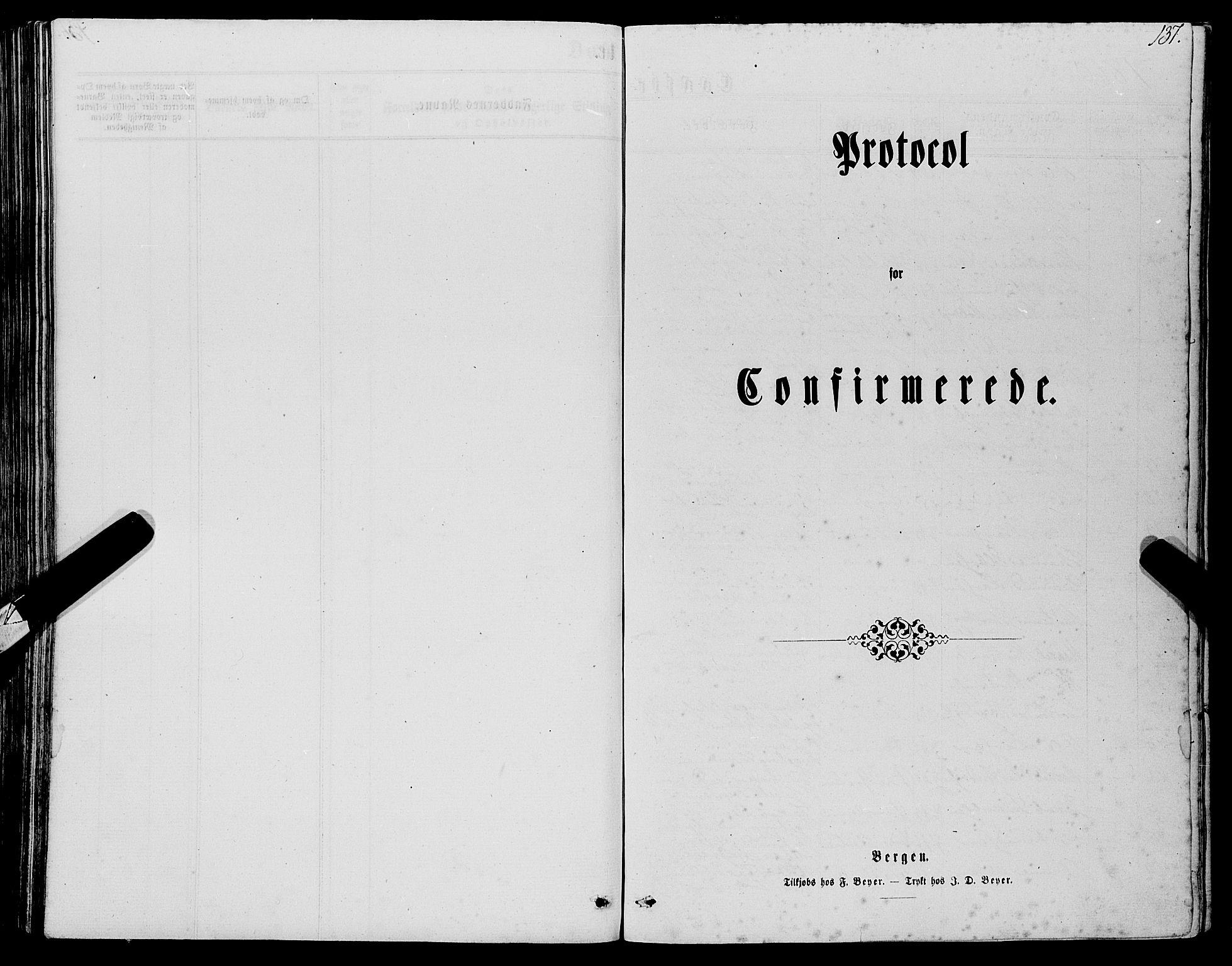 SAB, Manger sokneprestembete, H/Haa: Ministerialbok nr. A 7, 1860-1870, s. 137