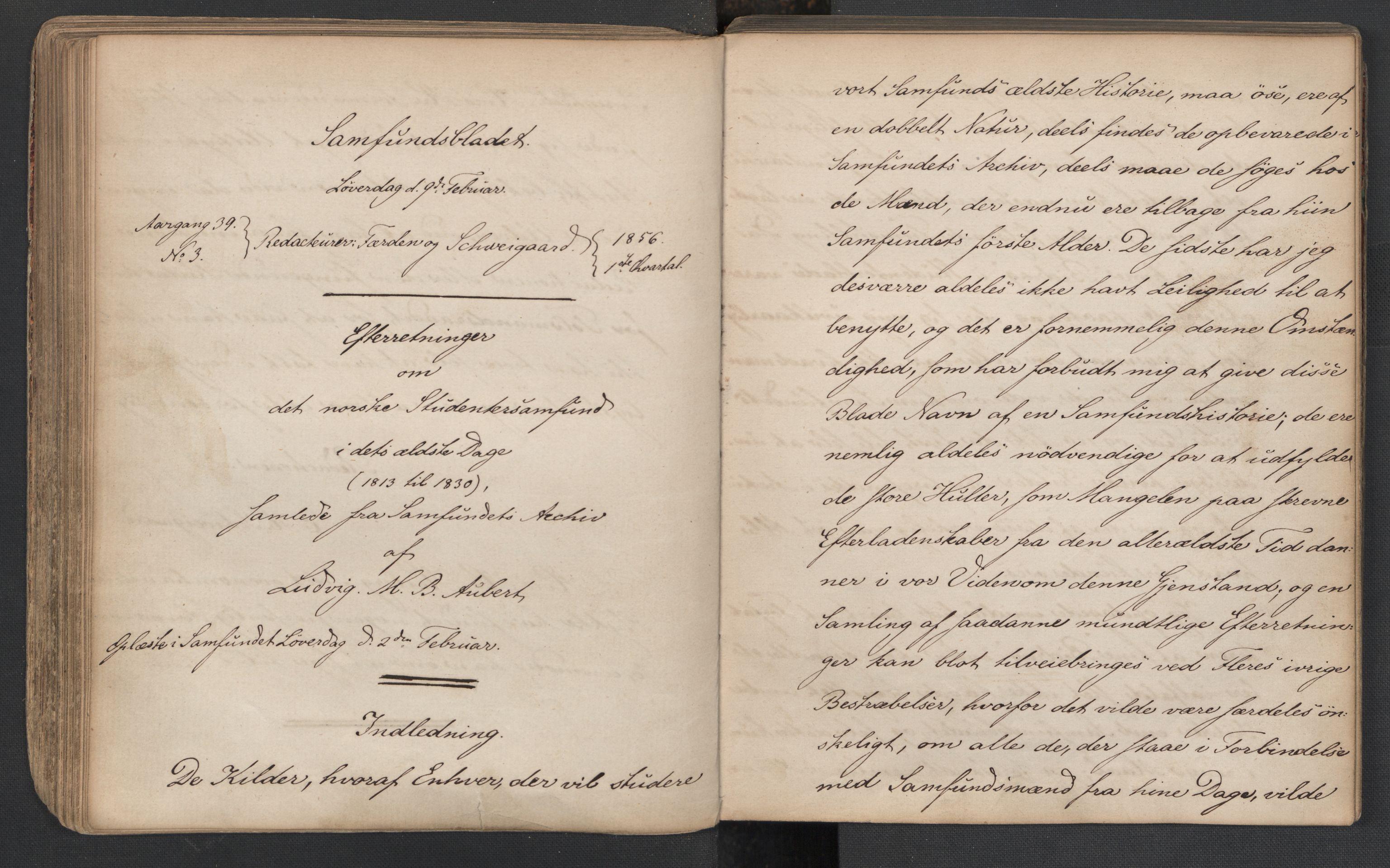 RA, Det Norske Studentersamfund, X/Xa/L0005, 1855-1856, s. 100