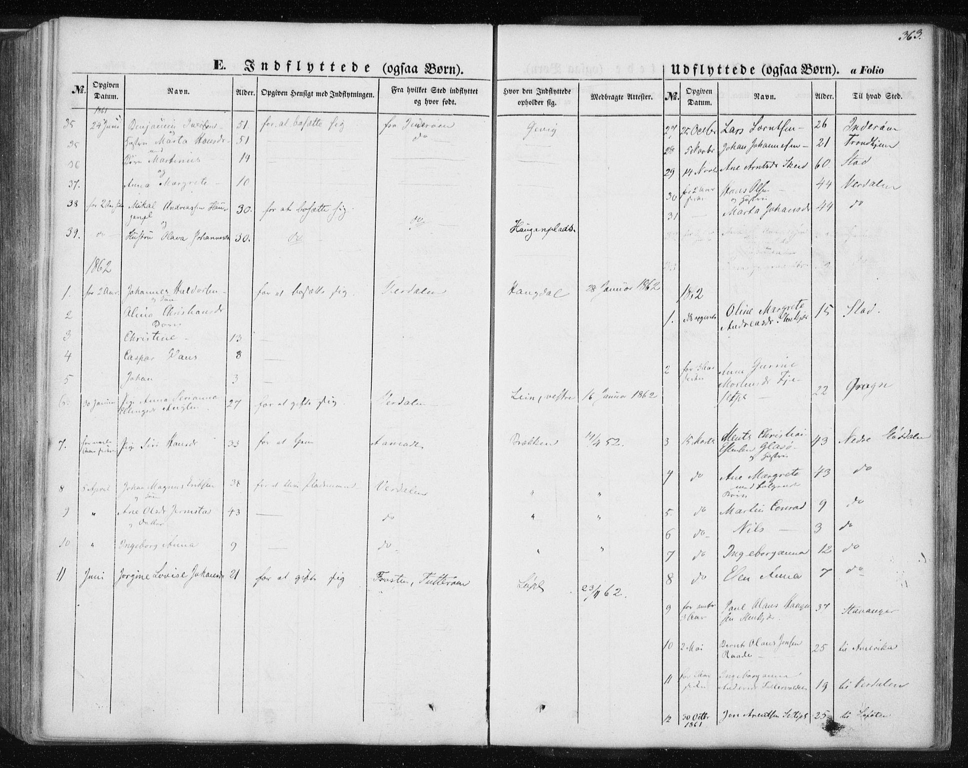 SAT, Ministerialprotokoller, klokkerbøker og fødselsregistre - Nord-Trøndelag, 735/L0342: Ministerialbok nr. 735A07 /1, 1849-1862, s. 363