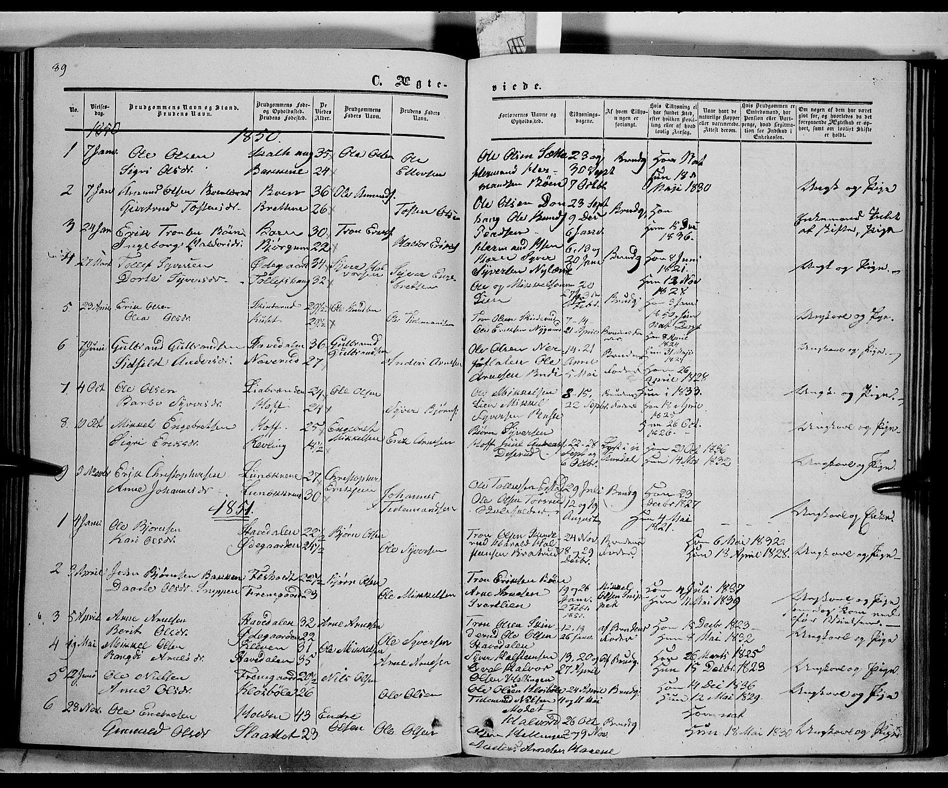 SAH, Sør-Aurdal prestekontor, Ministerialbok nr. 6, 1849-1876, s. 89