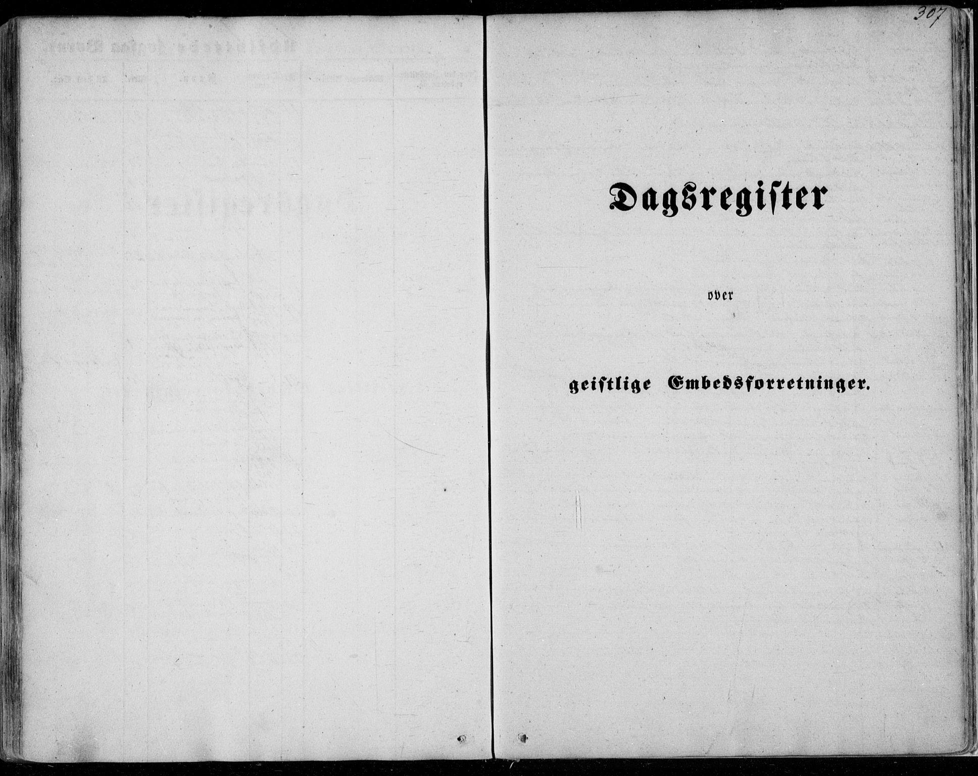 SAB, Manger sokneprestembete, H/Haa: Ministerialbok nr. A 6, 1849-1859, s. 307