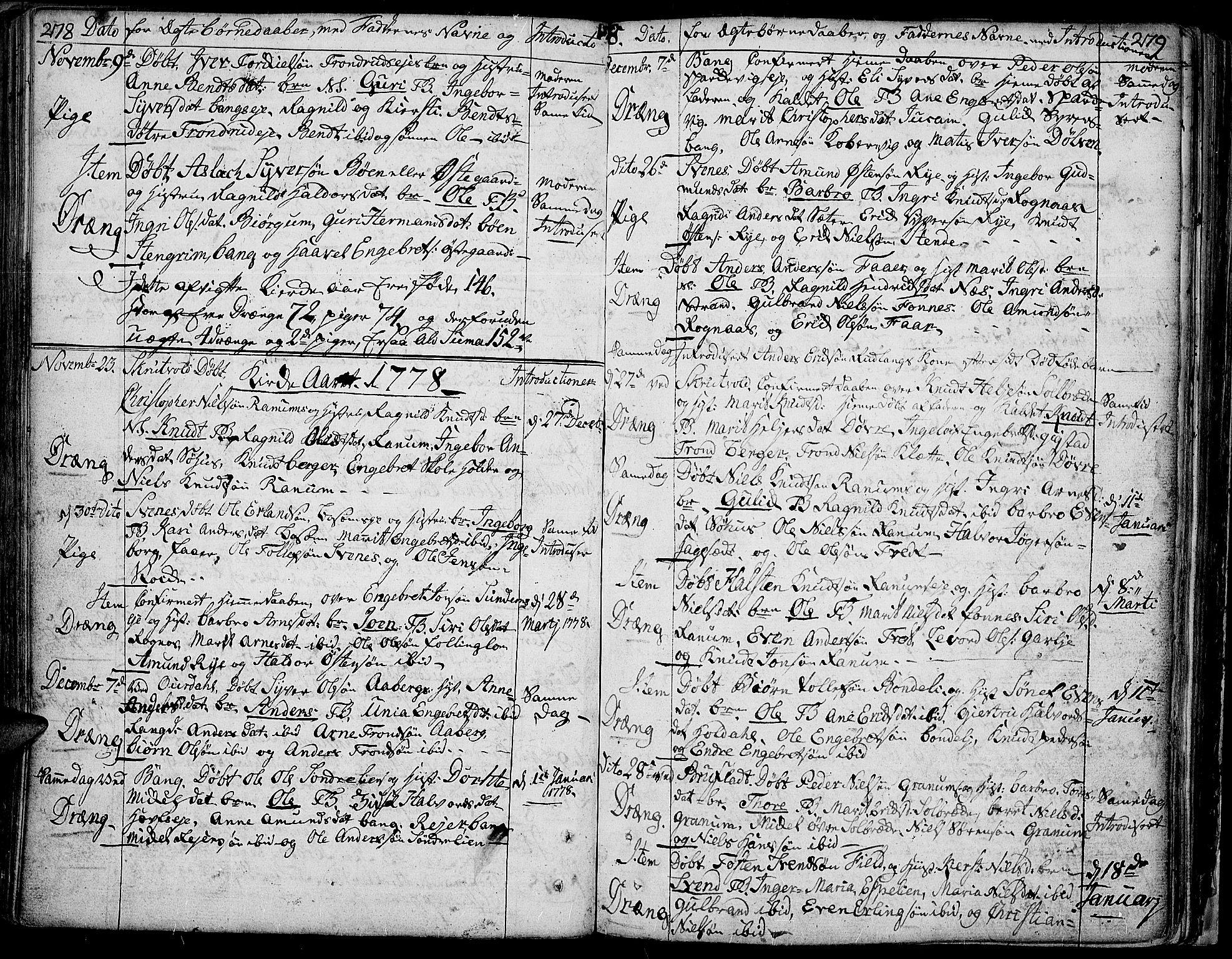 SAH, Aurdal prestekontor, Ministerialbok nr. 5, 1763-1781, s. 278-279
