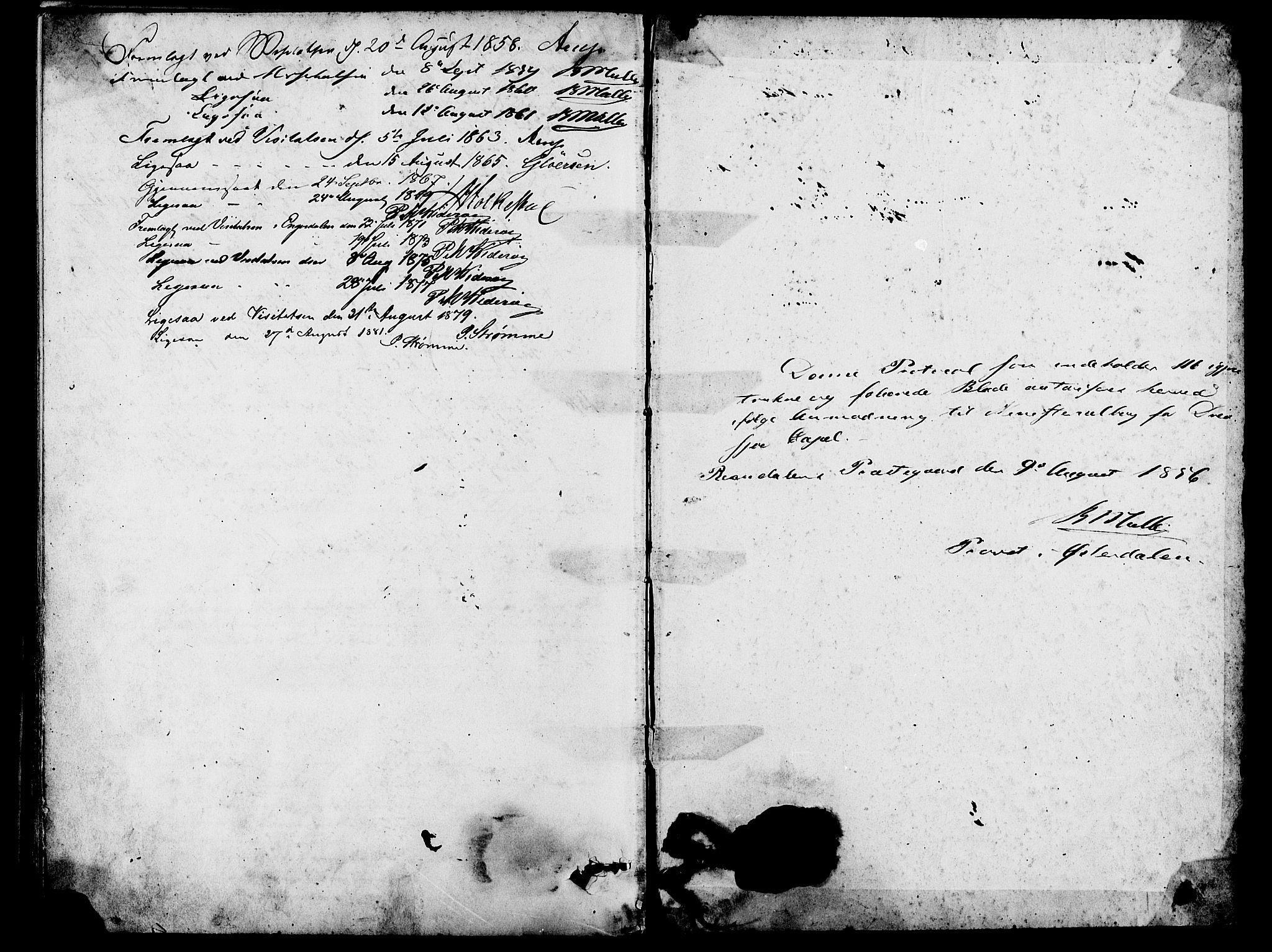 SAH, Rendalen prestekontor, H/Ha/Hab/L0002: Klokkerbok nr. 2, 1858-1880