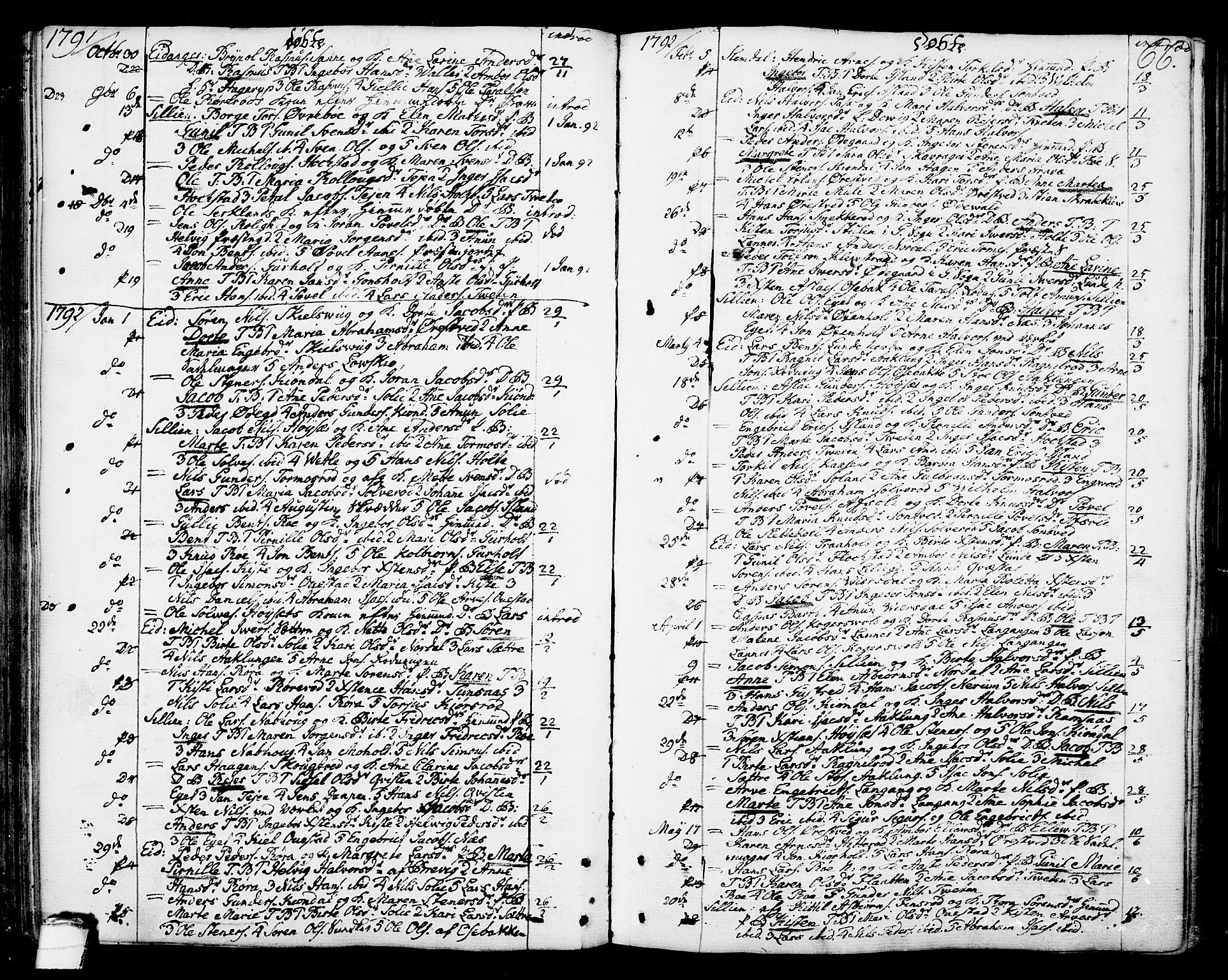 SAKO, Eidanger kirkebøker, F/Fa/L0006: Ministerialbok nr. 6, 1764-1814, s. 66