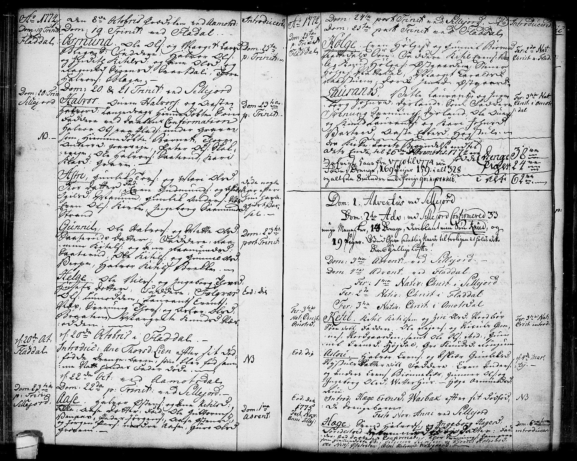 SAKO, Seljord kirkebøker, F/Fa/L0007: Ministerialbok nr. I 7, 1755-1800, s. 76