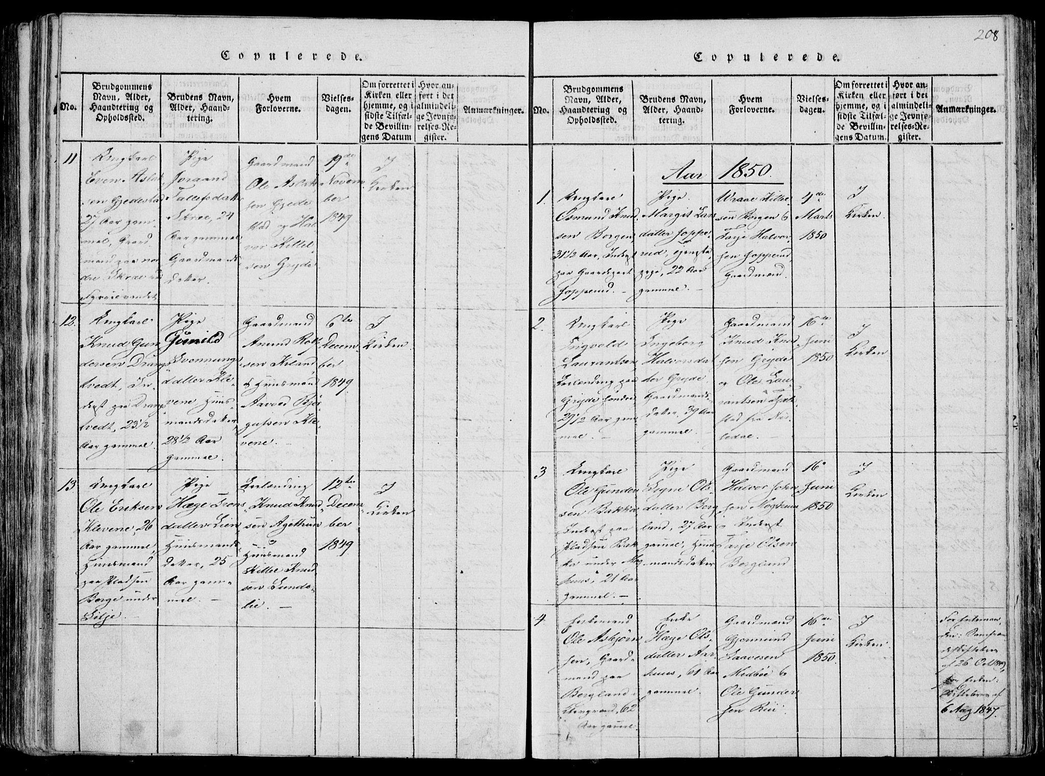 SAKO, Fyresdal kirkebøker, F/Fa/L0004: Ministerialbok nr. I 4, 1815-1854, s. 208