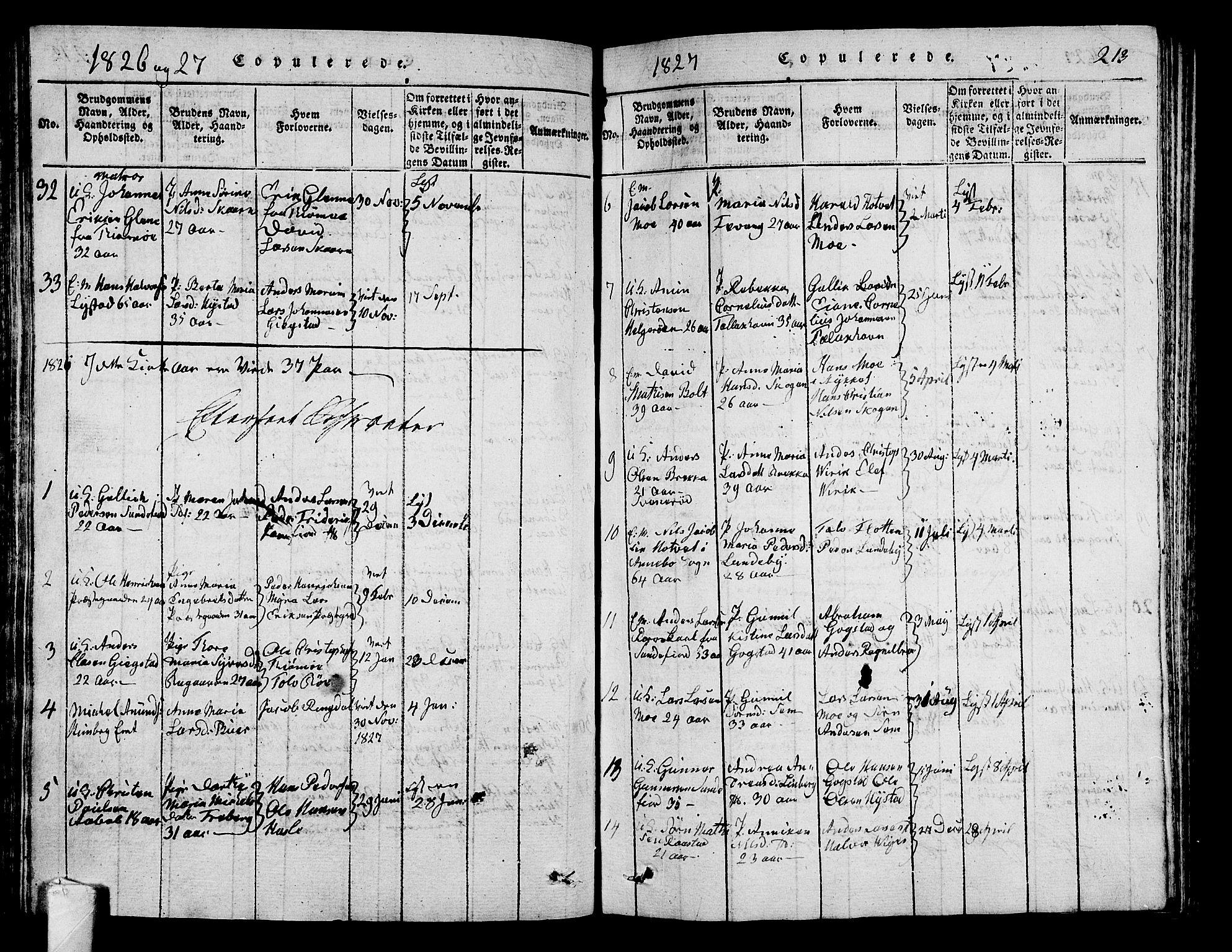 SAKO, Sandar kirkebøker, G/Ga/L0001: Klokkerbok nr. 1, 1814-1835, s. 213