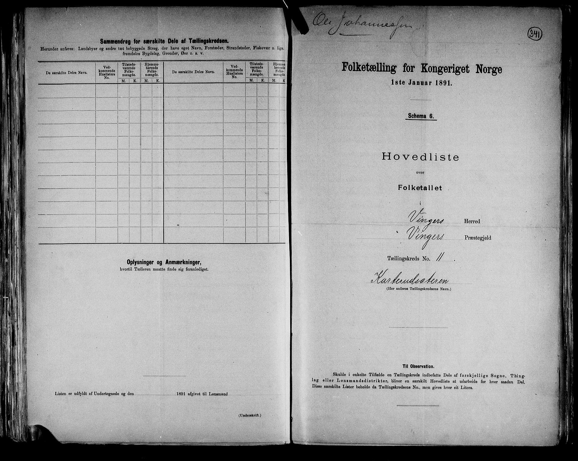 RA, Folketelling 1891 for 0421 Vinger herred, 1891, s. 24