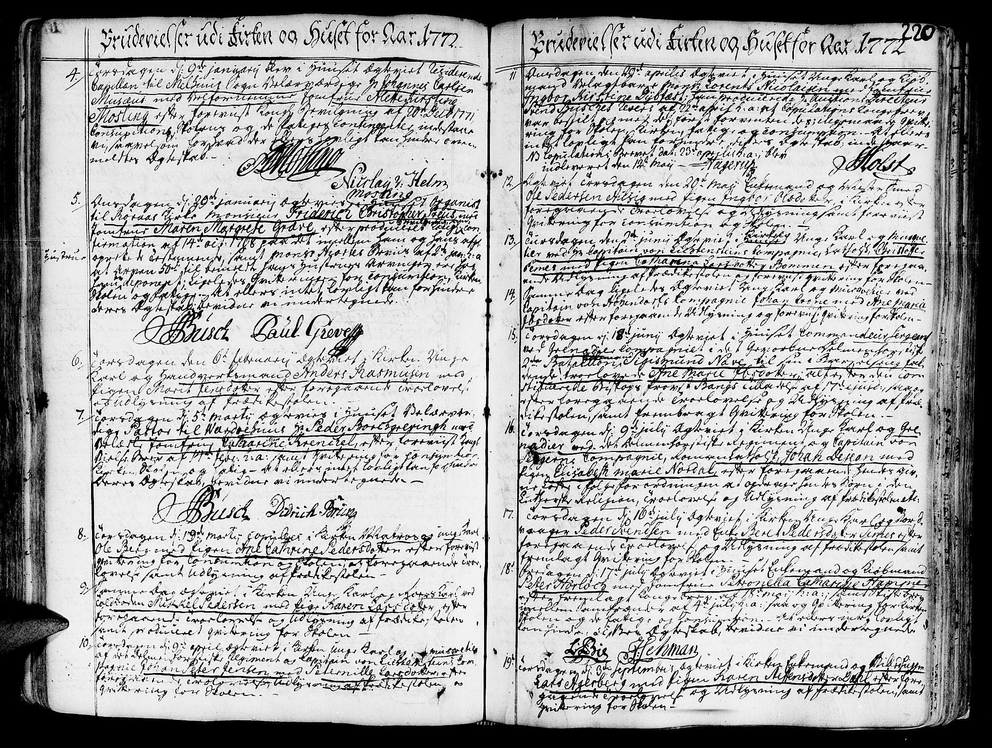 SAT, Ministerialprotokoller, klokkerbøker og fødselsregistre - Sør-Trøndelag, 602/L0103: Ministerialbok nr. 602A01, 1732-1774, s. 220