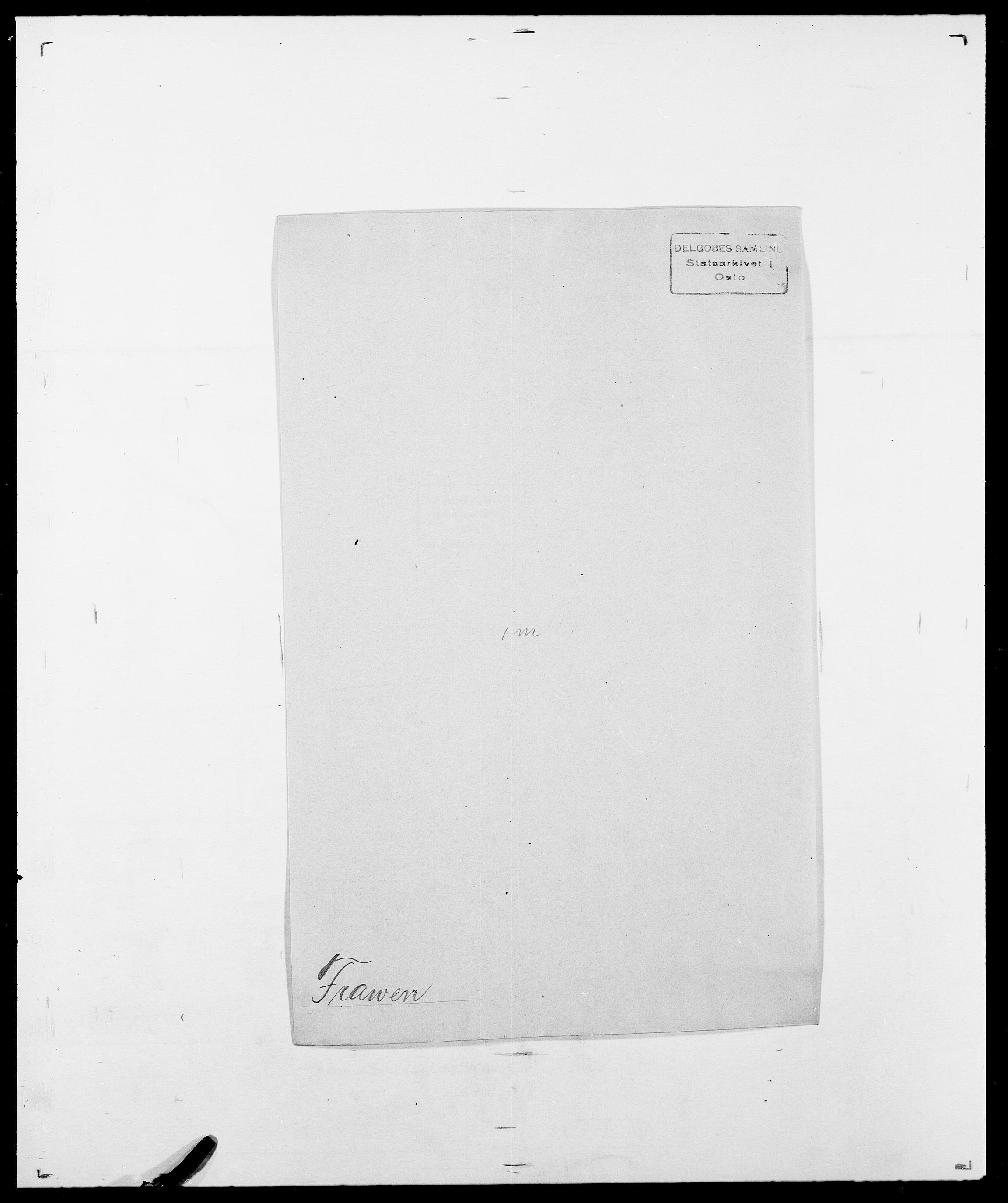 SAO, Delgobe, Charles Antoine - samling, D/Da/L0012: Flor, Floer, Flohr - Fritzner, s. 725