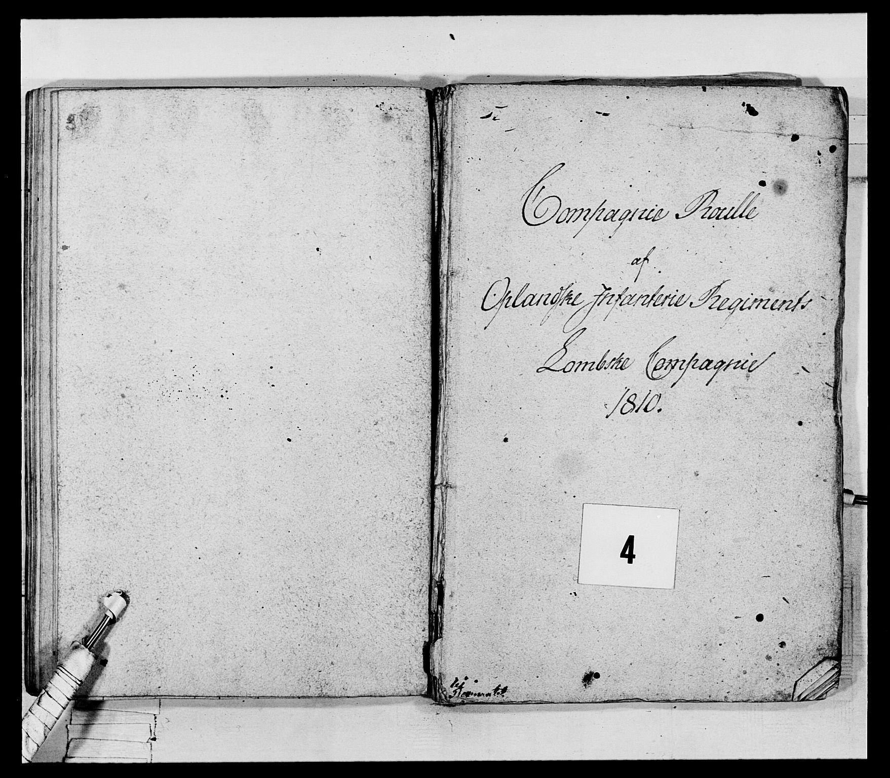 RA, Generalitets- og kommissariatskollegiet, Det kongelige norske kommissariatskollegium, E/Eh/L0069: Opplandske gevorbne infanteriregiment, 1810-1818, s. 160