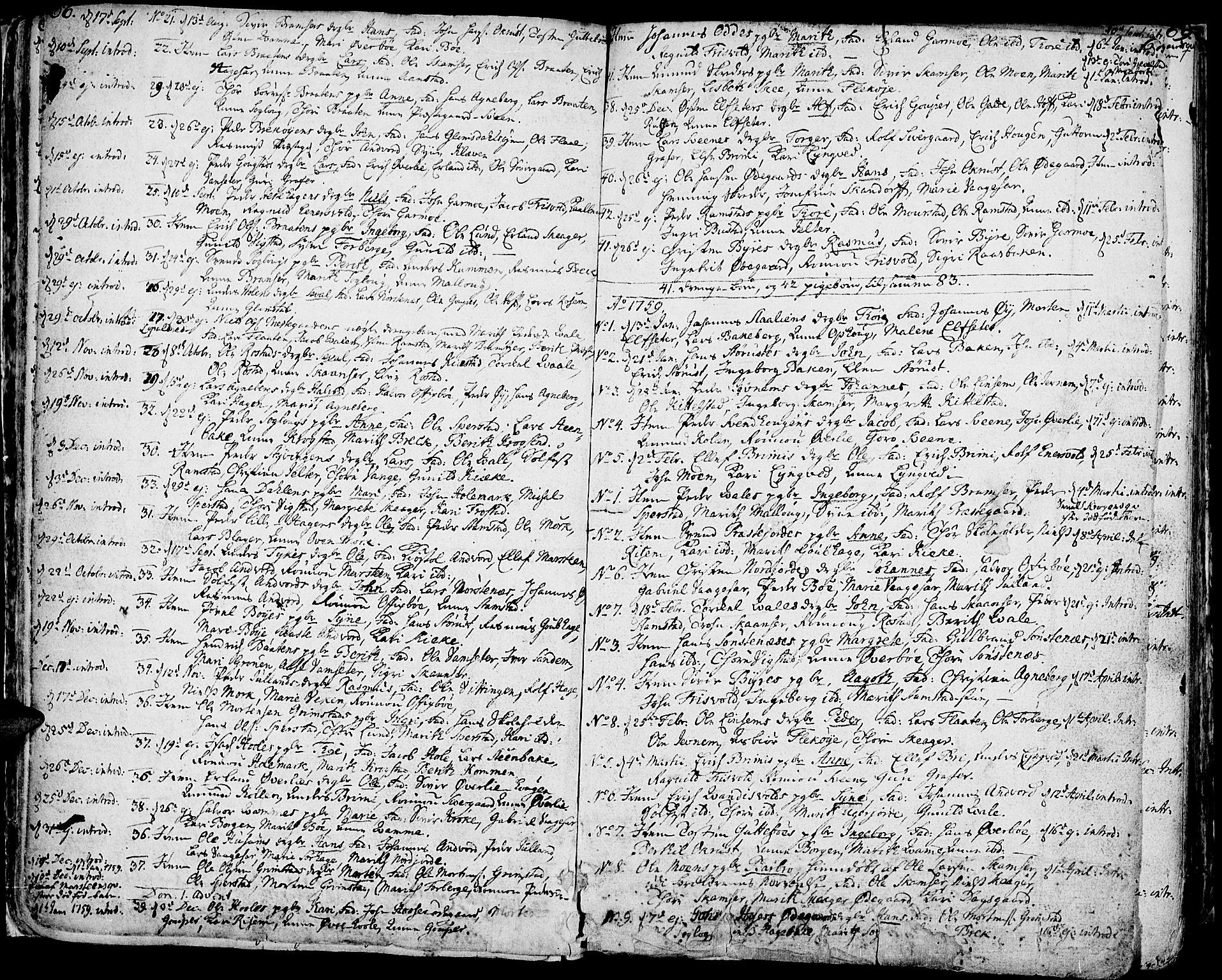 SAH, Lom prestekontor, K/L0002: Ministerialbok nr. 2, 1749-1801, s. 66-67
