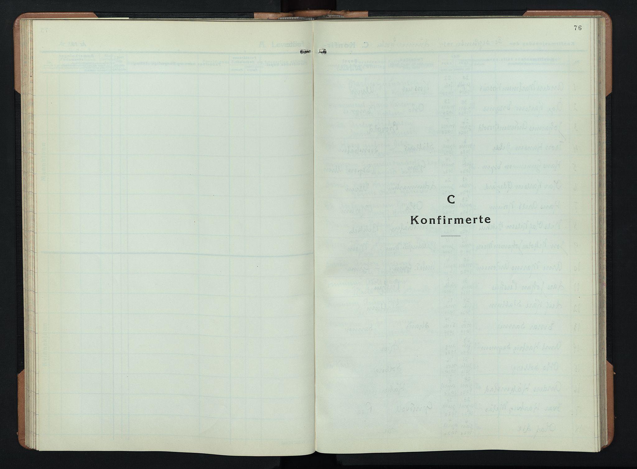 SAH, Lunner prestekontor, H/Ha/Hab/L0003: Klokkerbok nr. 3, 1933-1945, s. 76
