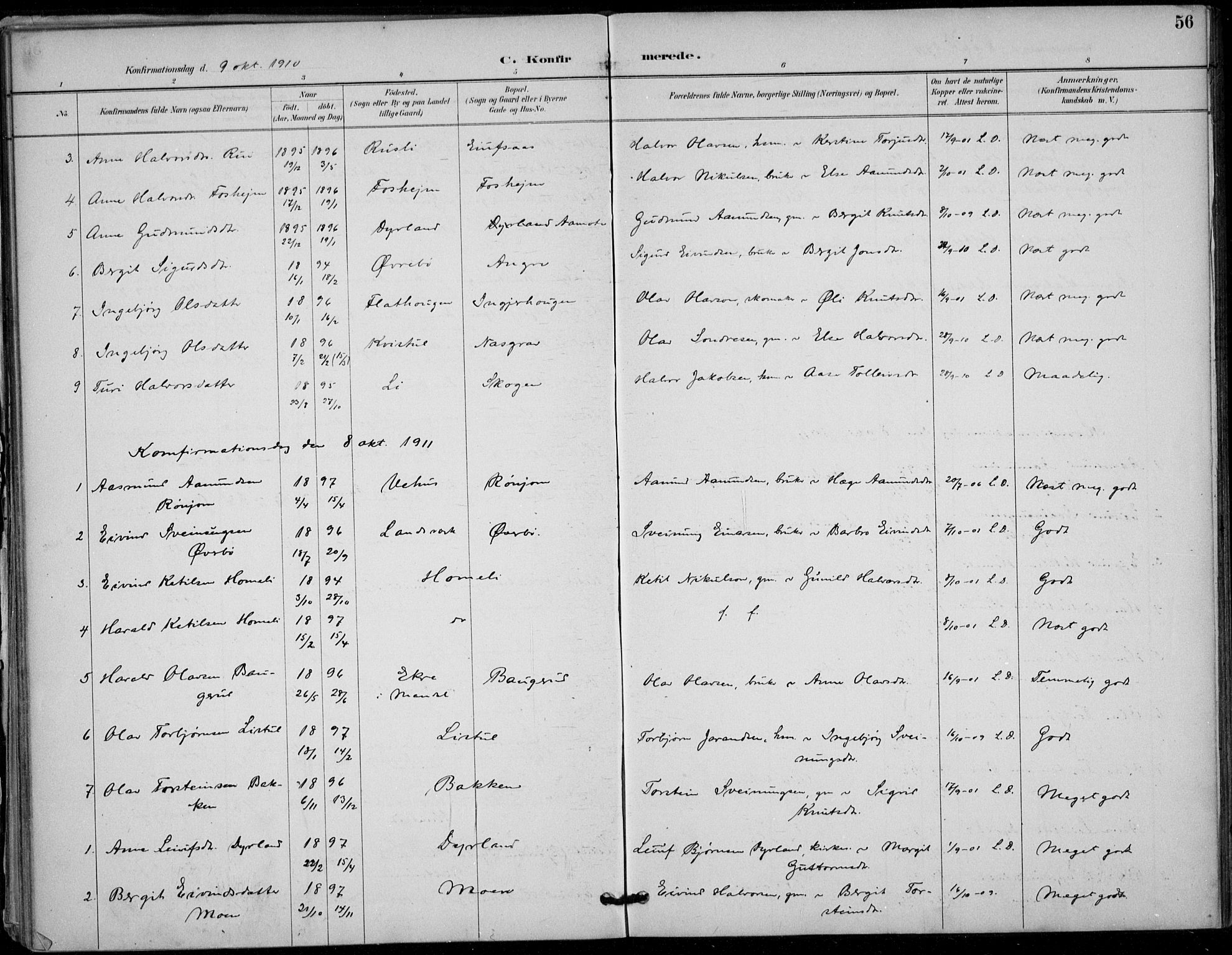 SAKO, Seljord kirkebøker, F/Fc/L0002: Ministerialbok nr. III 2, 1887-1920, s. 56