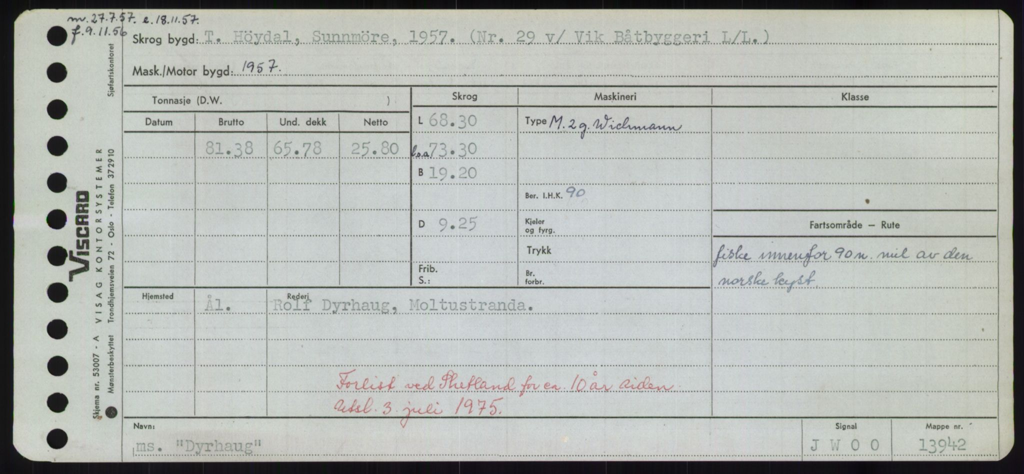 RA, Sjøfartsdirektoratet med forløpere, Skipsmålingen, H/Hd/L0008: Fartøy, C-D, s. 721