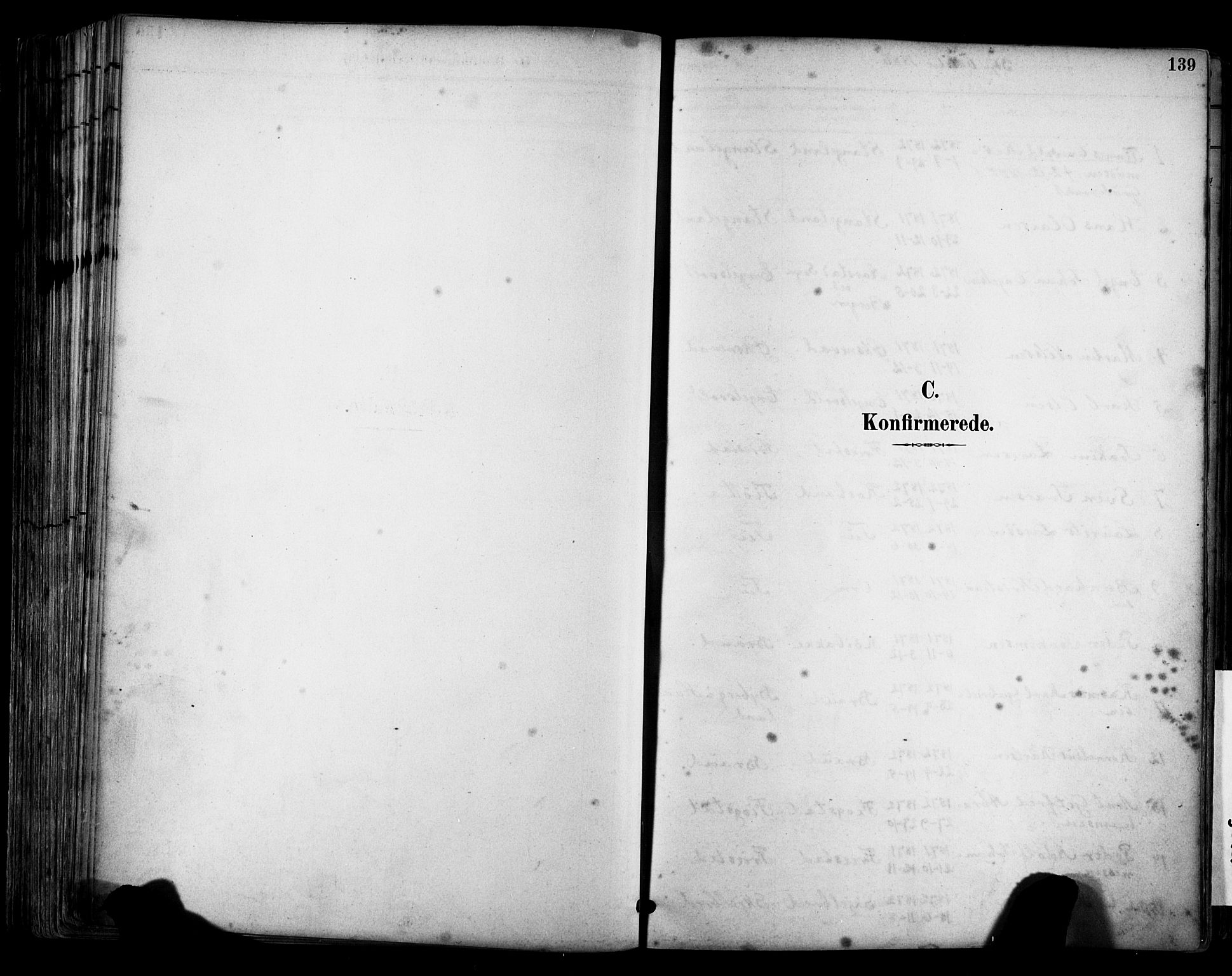 SAST, Klepp sokneprestkontor, 30BA/L0009: Ministerialbok nr. A 7, 1886-1915, s. 139
