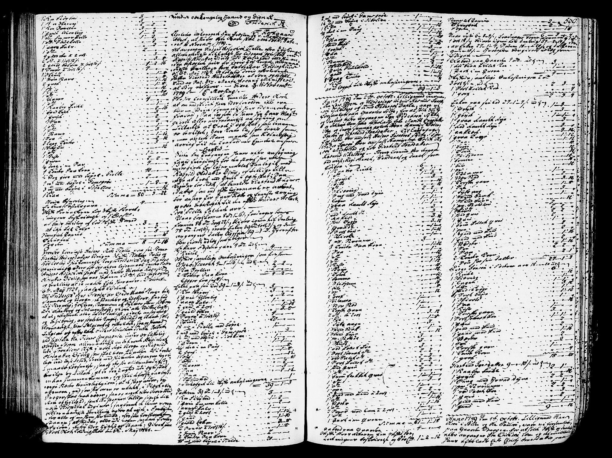SAT, Romsdal sorenskriveri, 3/3A/L0007: Skifteprotokoll, 1740-1751, s. 538b-539a