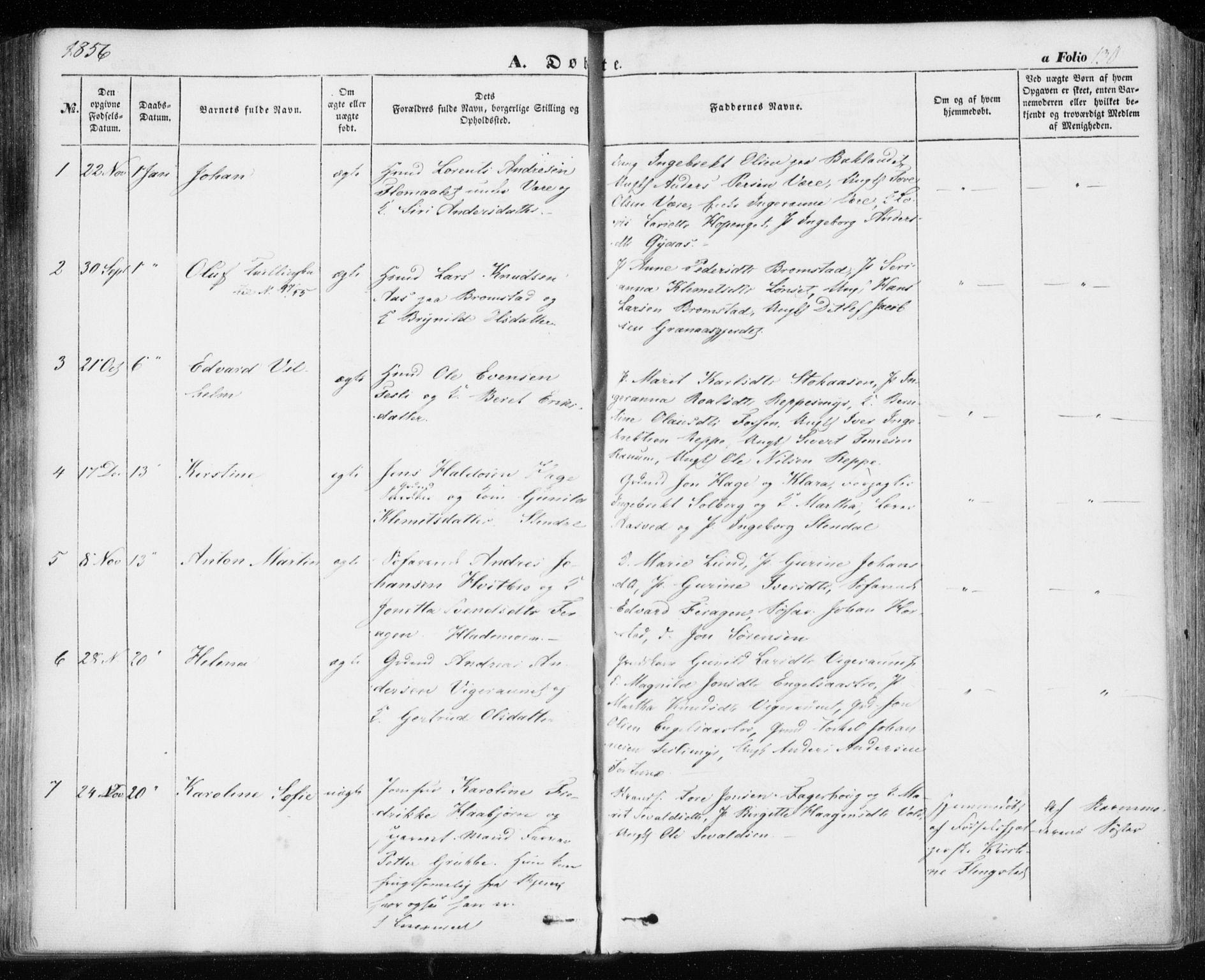 SAT, Ministerialprotokoller, klokkerbøker og fødselsregistre - Sør-Trøndelag, 606/L0291: Ministerialbok nr. 606A06, 1848-1856, s. 130