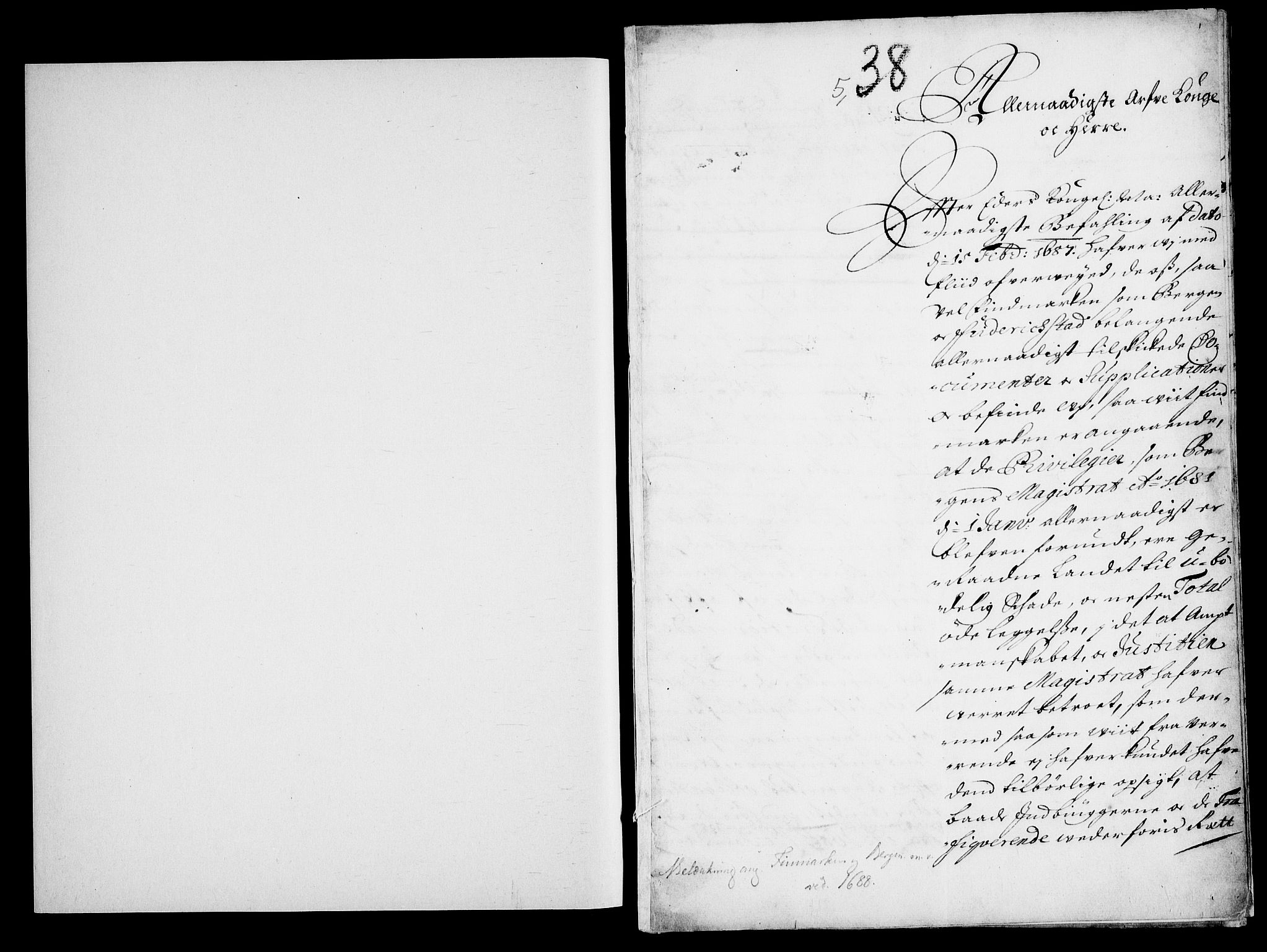 RA, Danske Kanselli, Skapsaker, G/L0019: Tillegg til skapsakene, 1616-1753, s. 35