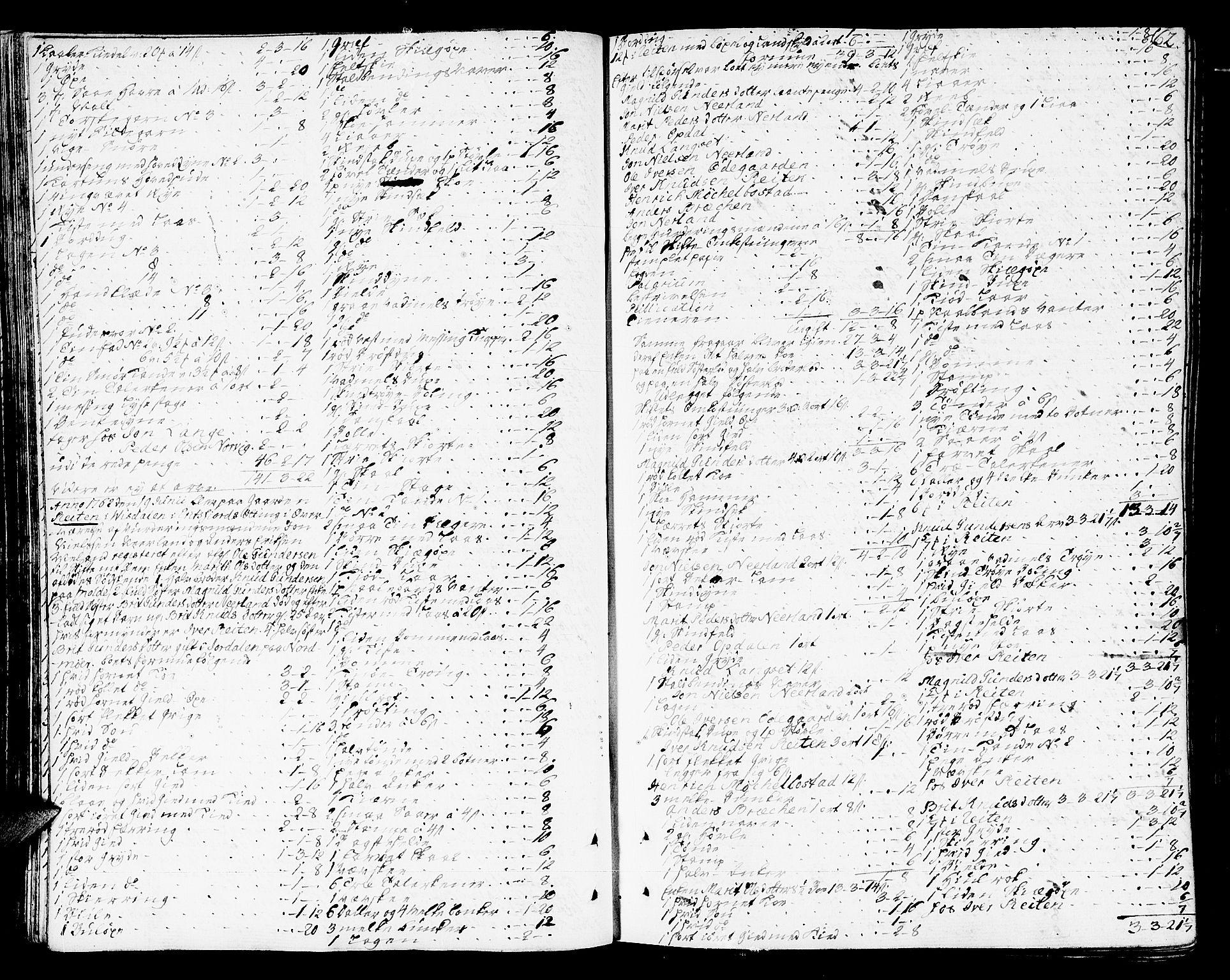 SAT, Romsdal sorenskriveri, 3/3A/L0009: Skifteprotokoll, 1761-1773, s. 61b-62a
